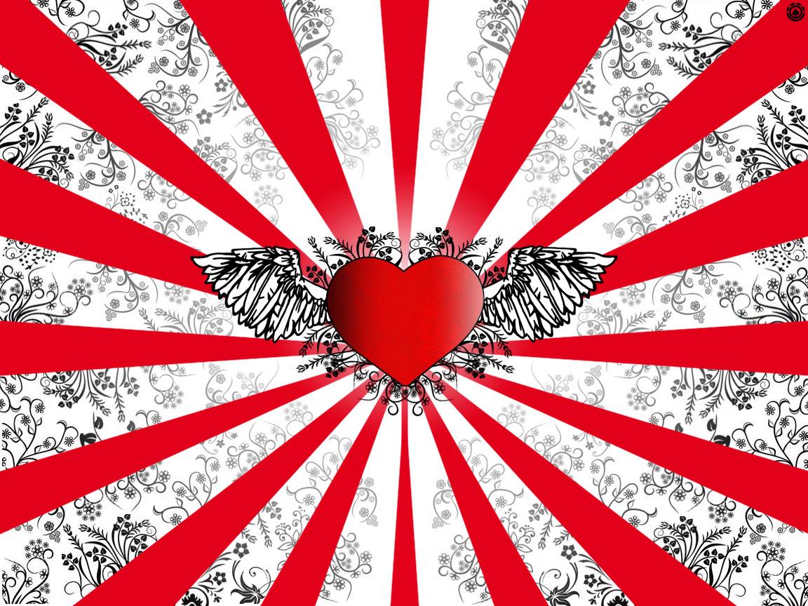 HD Wallpapers Wings of Love Vector