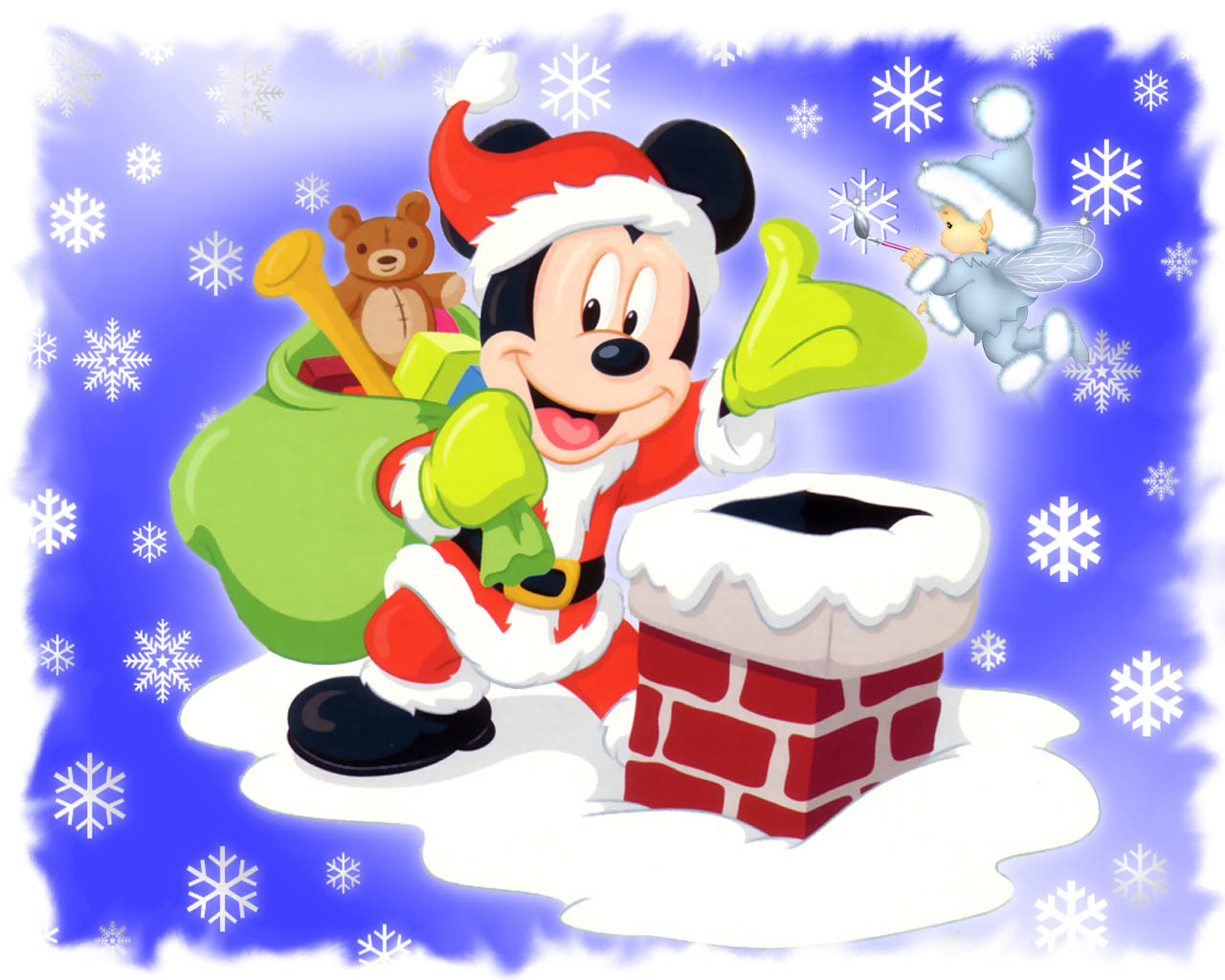 HD Wallpapers Mickey Mouse Santa