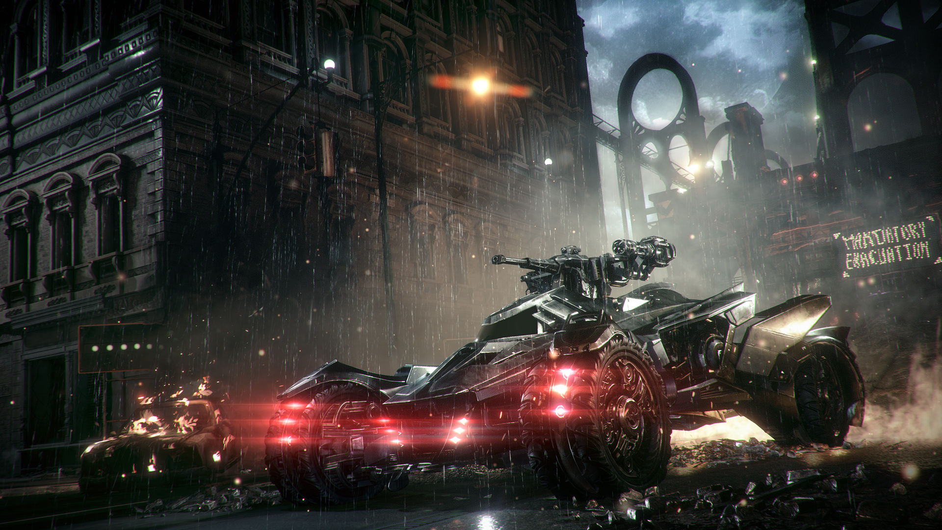 HD Wallpapers Batmobile in Arkham Knight