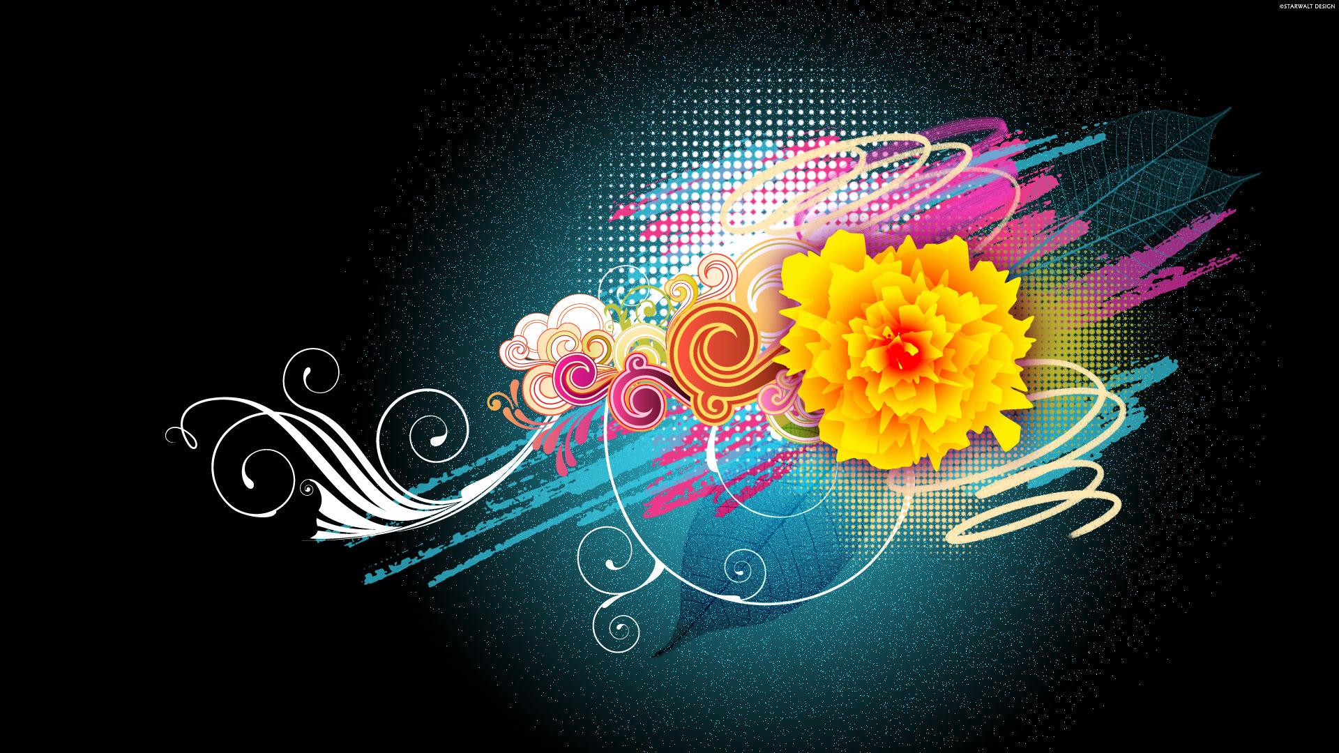 HD Wallpapers Flower Vector Designs 1080p