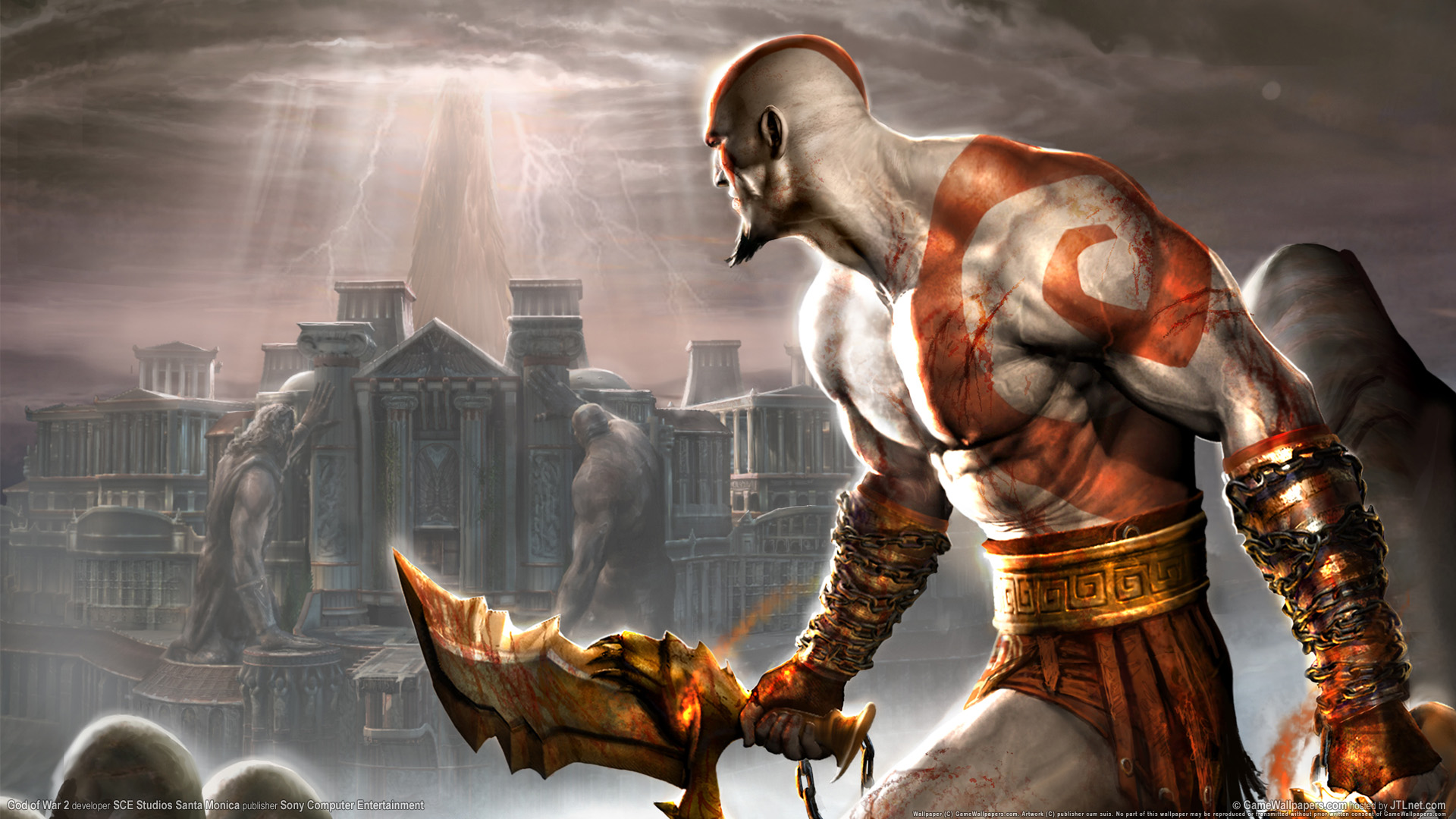 HD Wallpapers God of War 2 PS2 Game