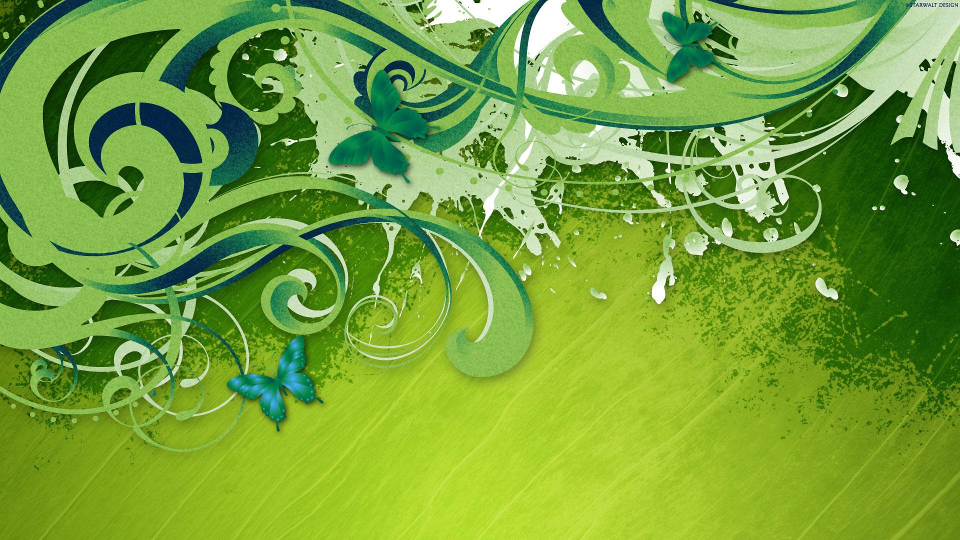 HD Wallpapers Green Vector HDTV