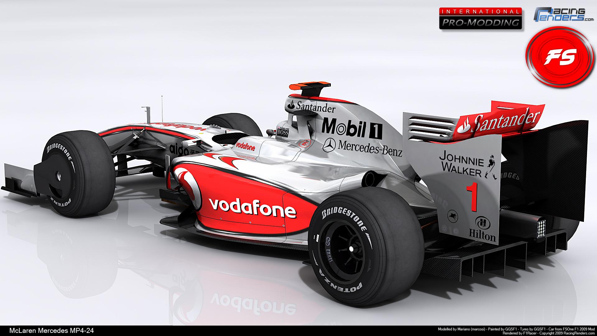 HD Wallpapers Mercedes Mclaren F1 Race Car