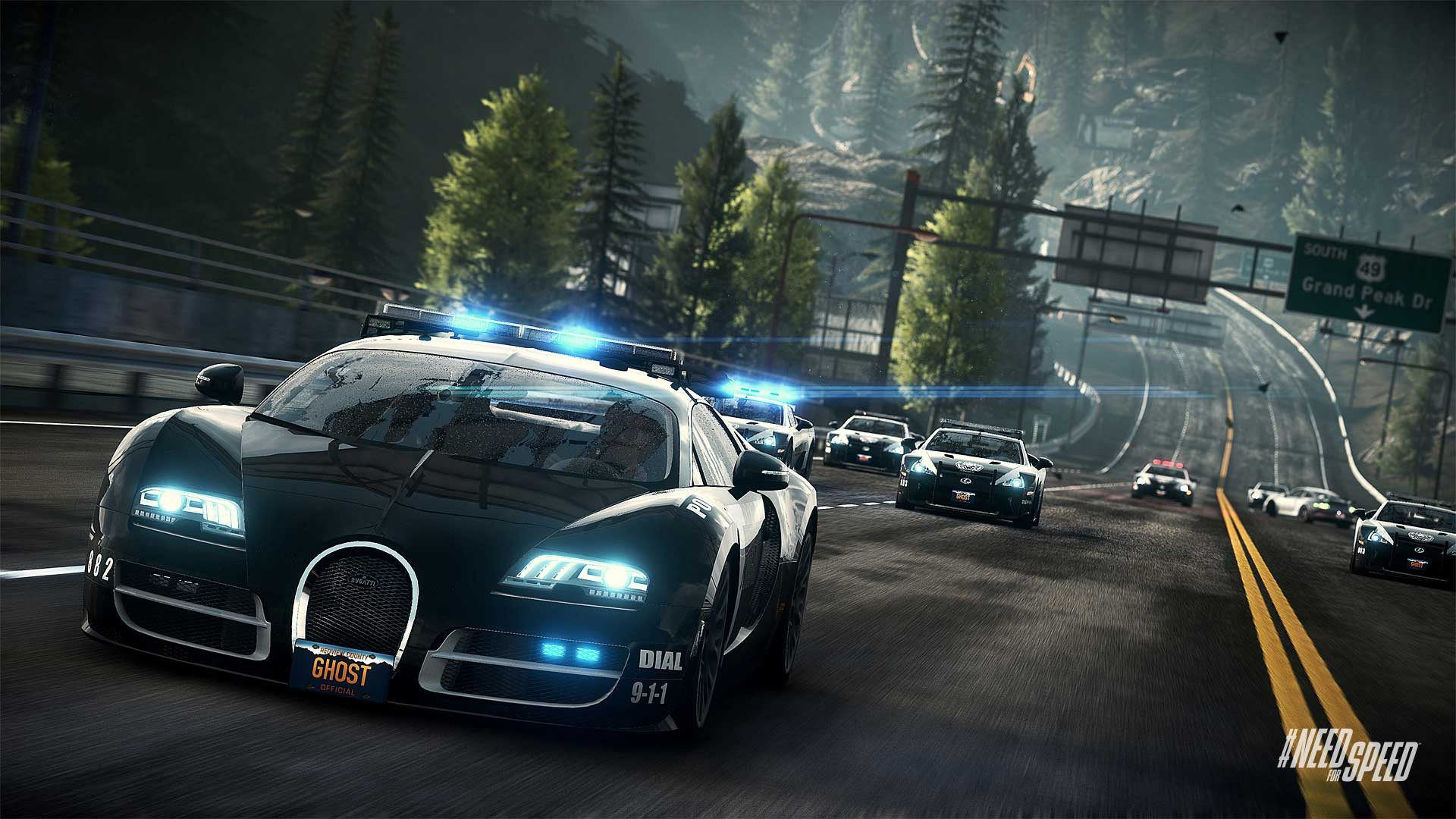 HD Wallpapers Need for Speed Rivals Bugatti Cop Car