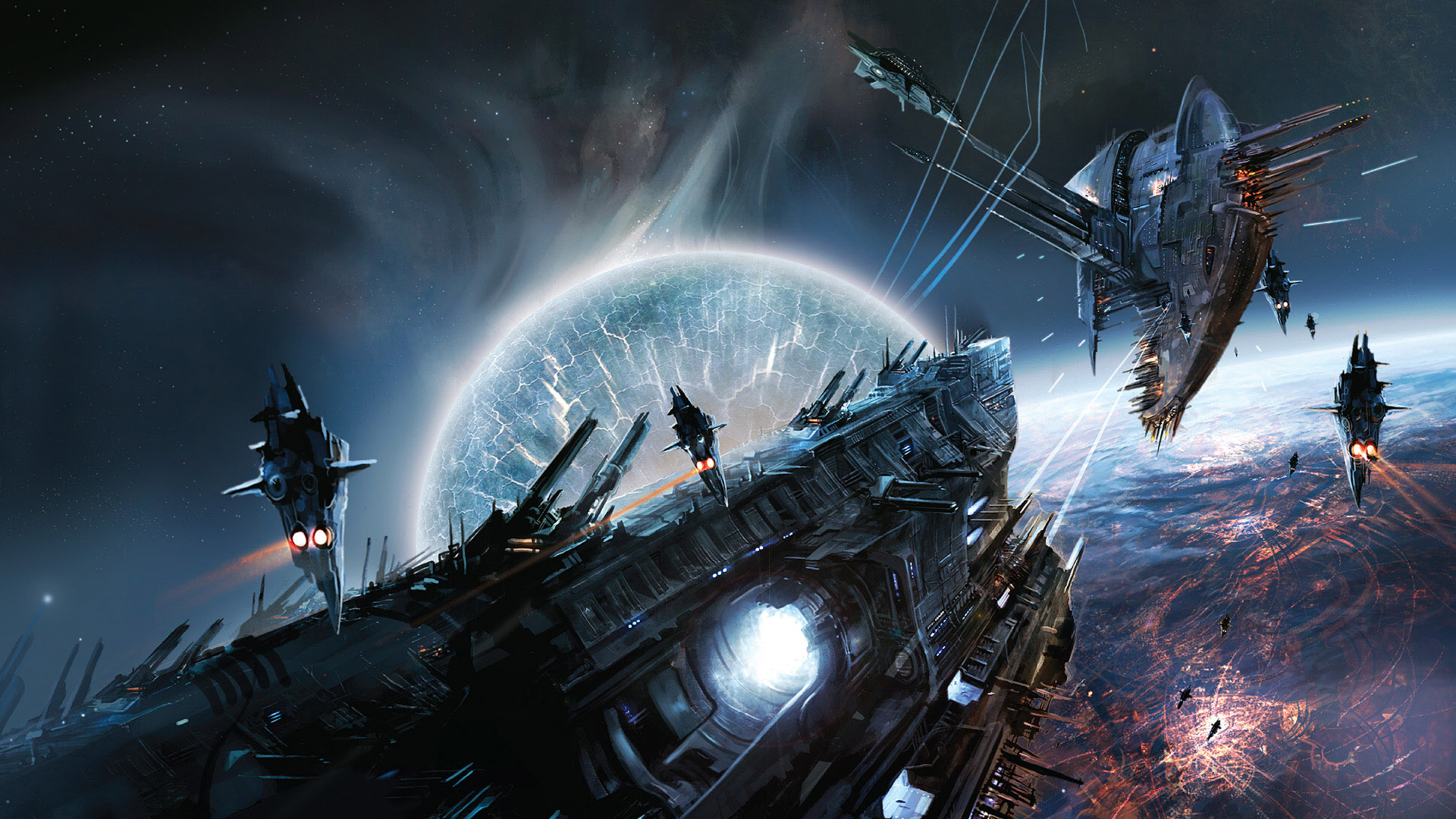 HD Wallpapers Space War Game Scene