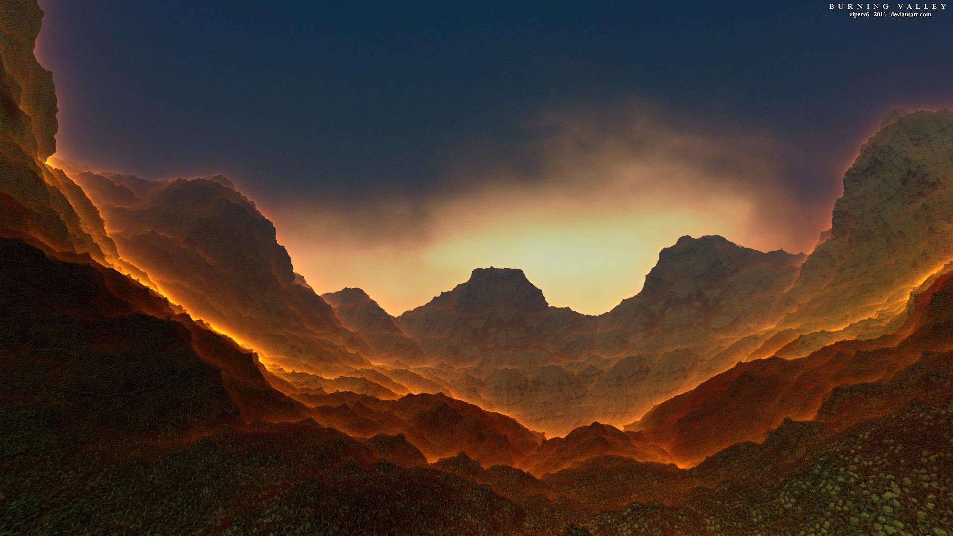 HD Wallpapers Valley Burn