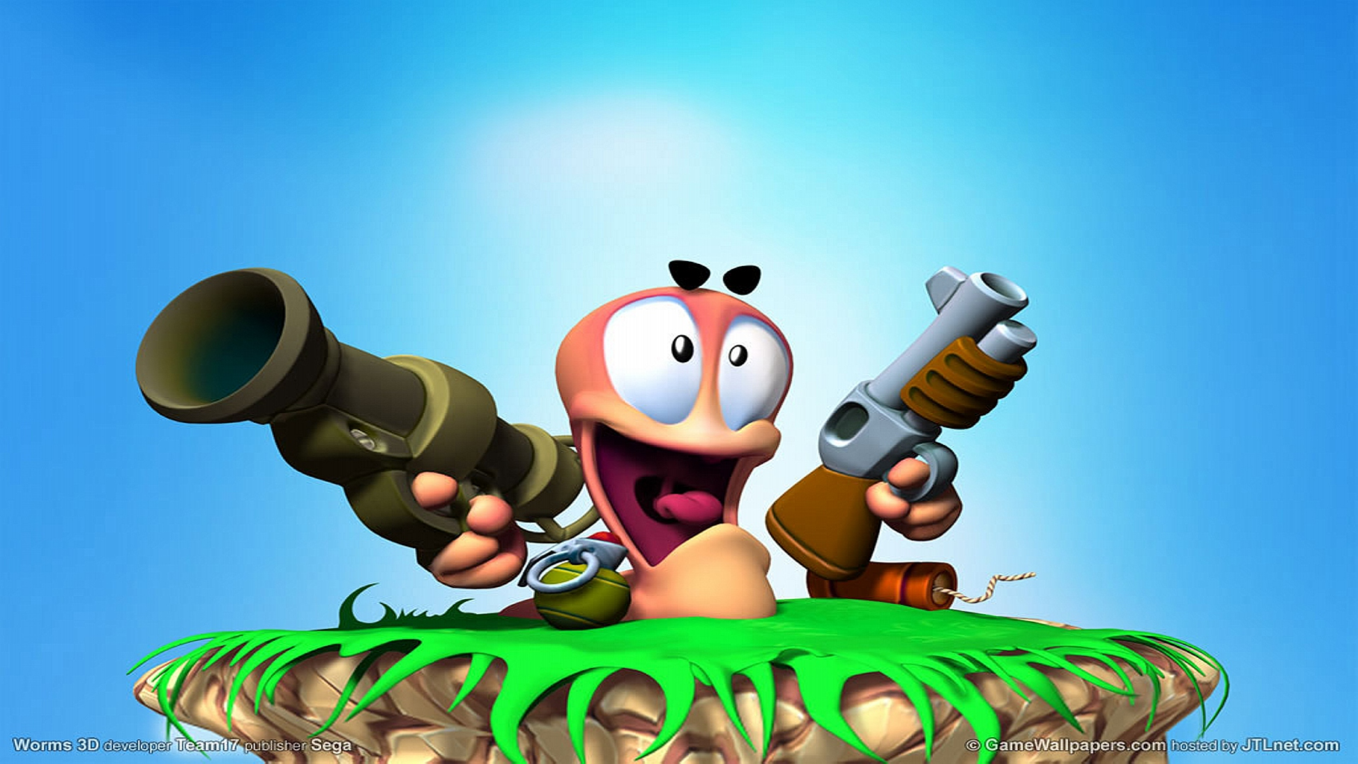 HD Wallpapers Worms Sega Blue Game