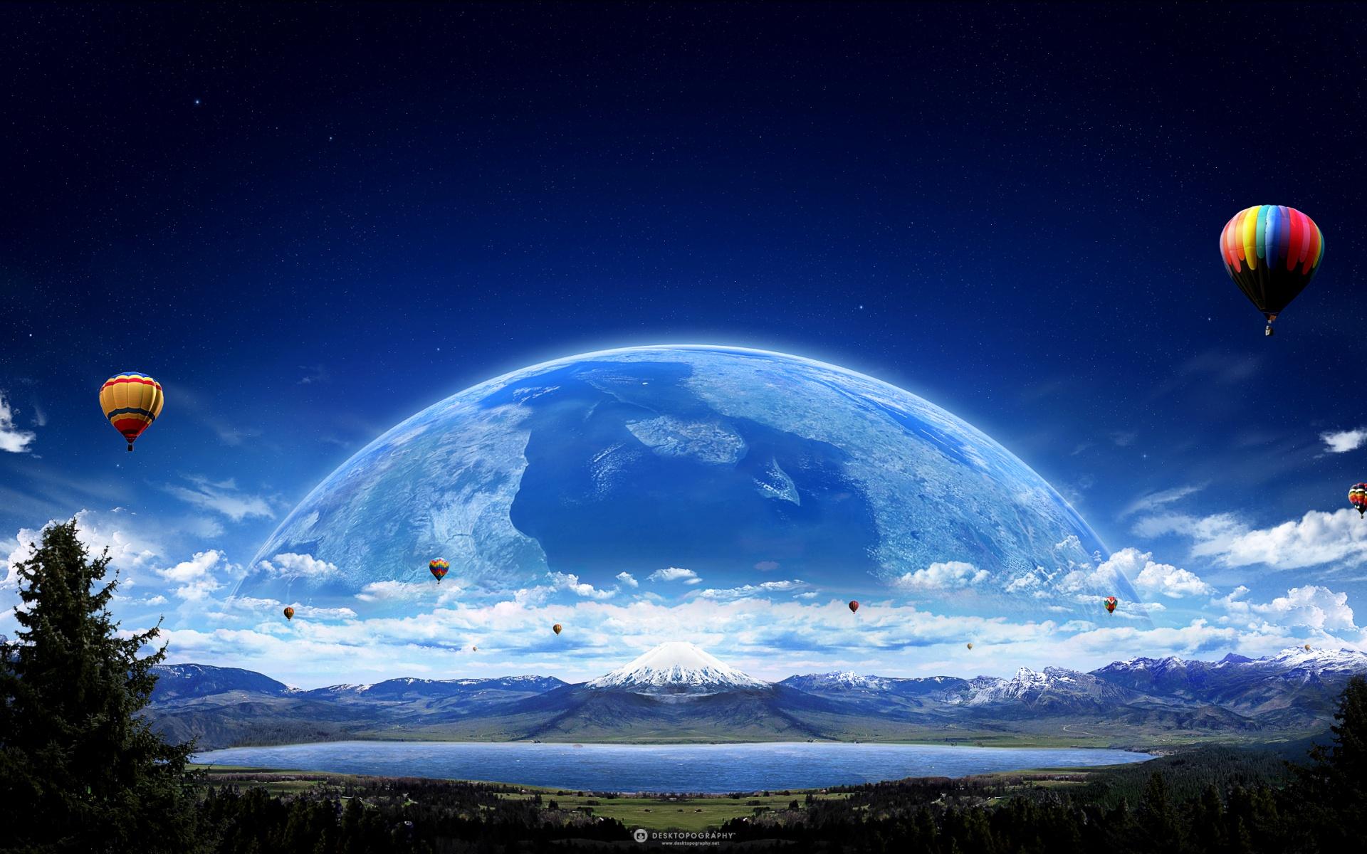 HD Wallpapers Air Balloon Planet