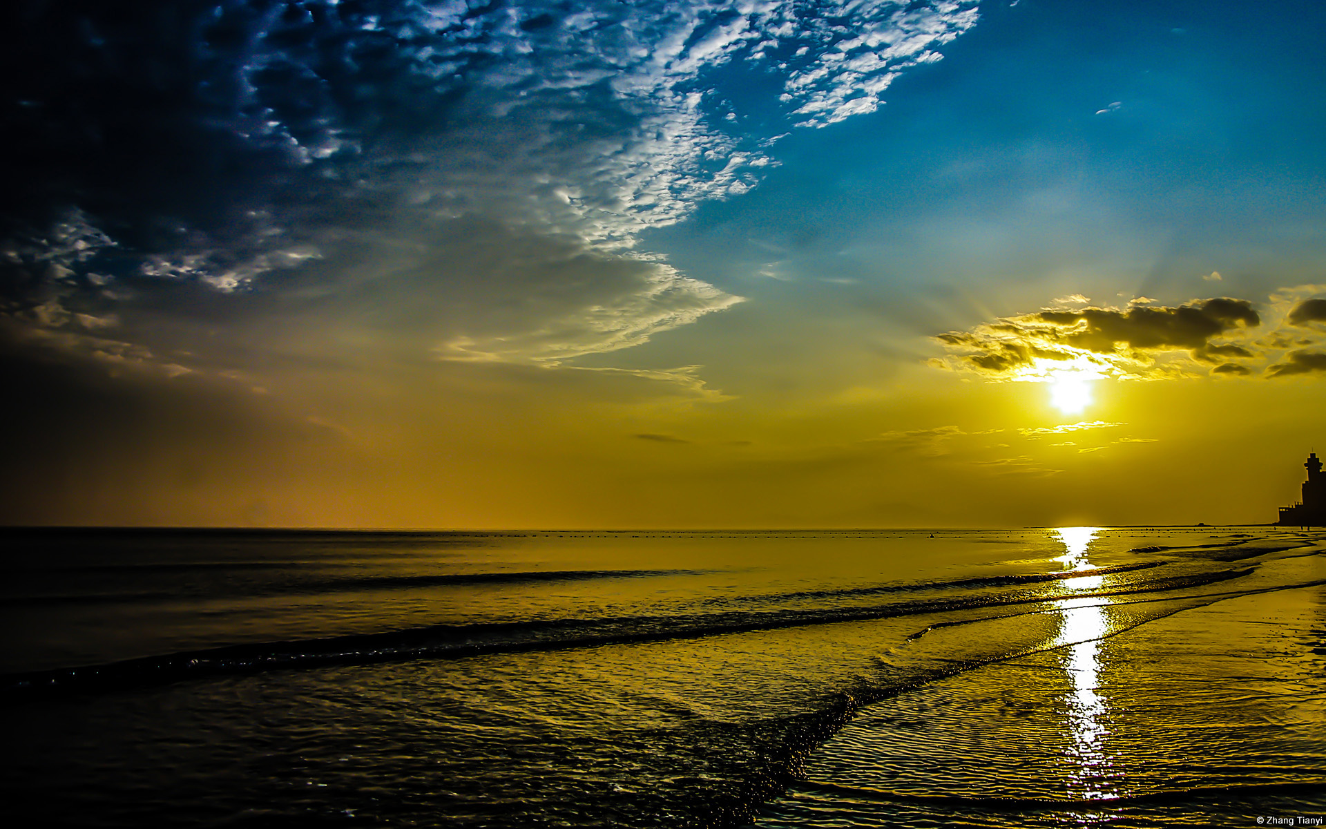 HD Wallpapers Beach Sunrise