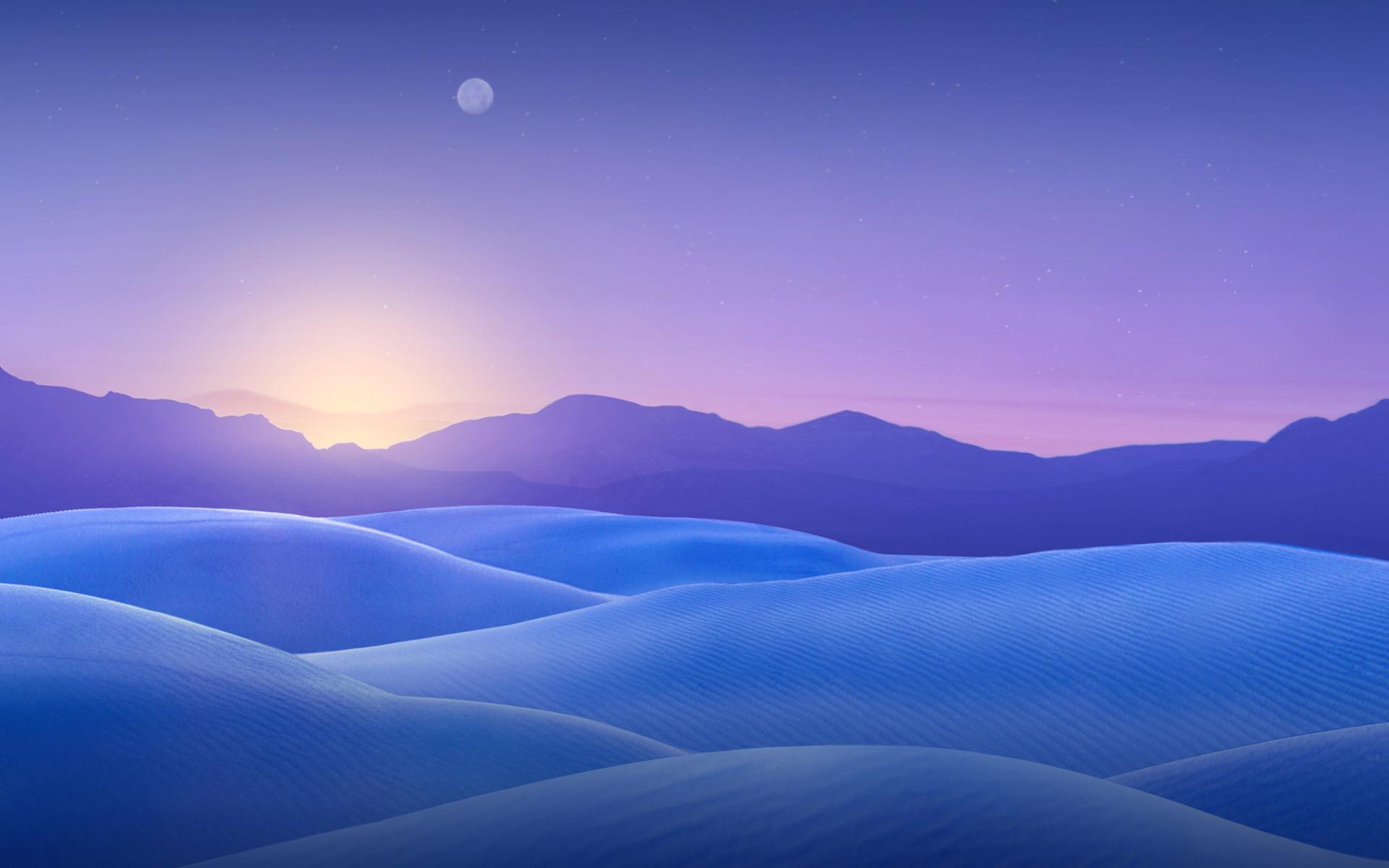 HD Wallpapers Blue Dunes