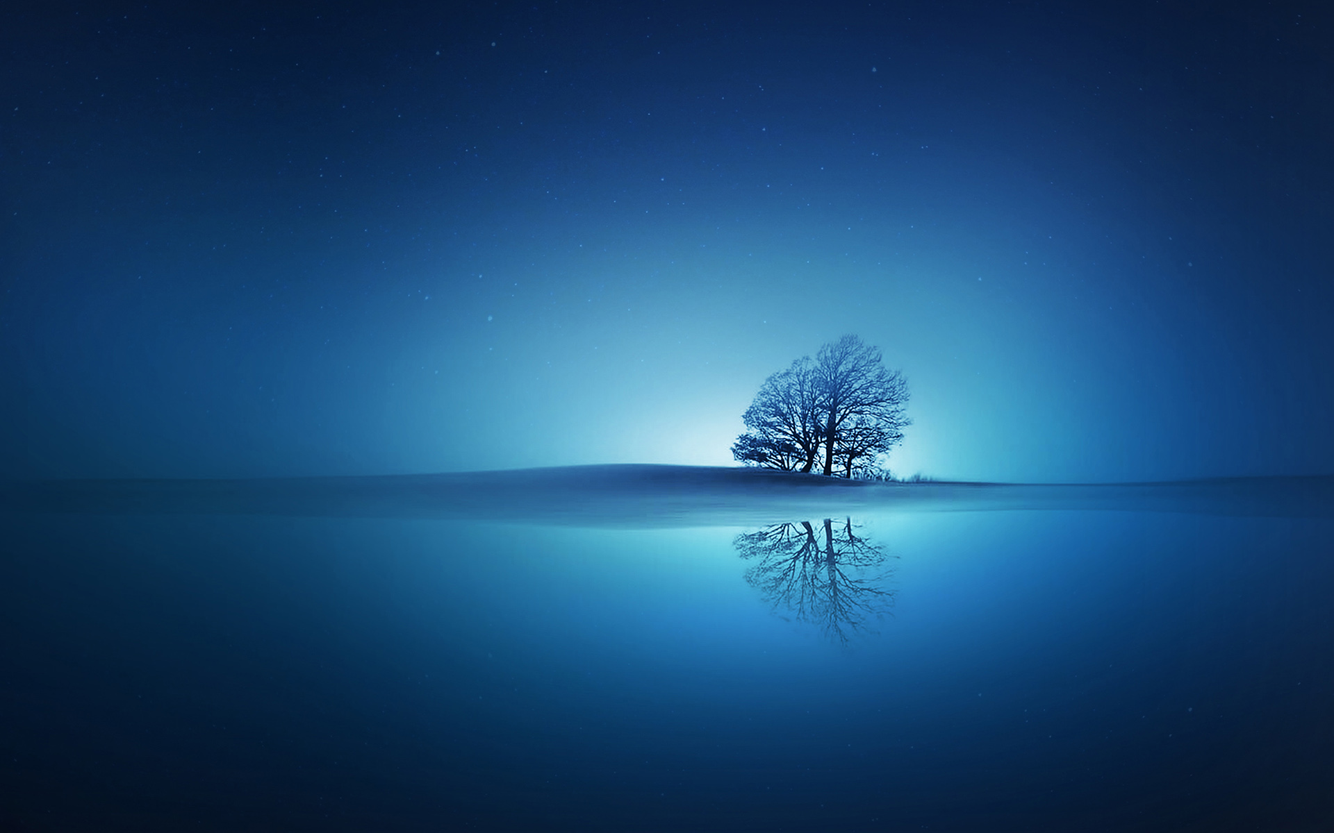 HD Wallpapers Blue Reflections