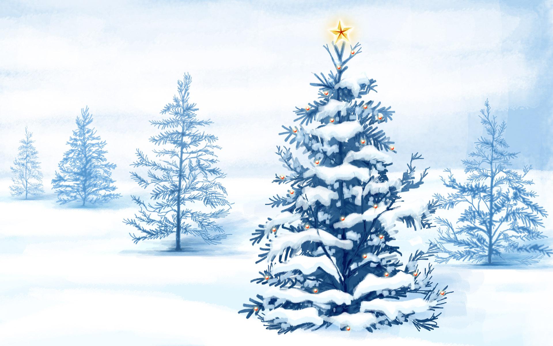 HD Wallpapers Christmas Snow Trees
