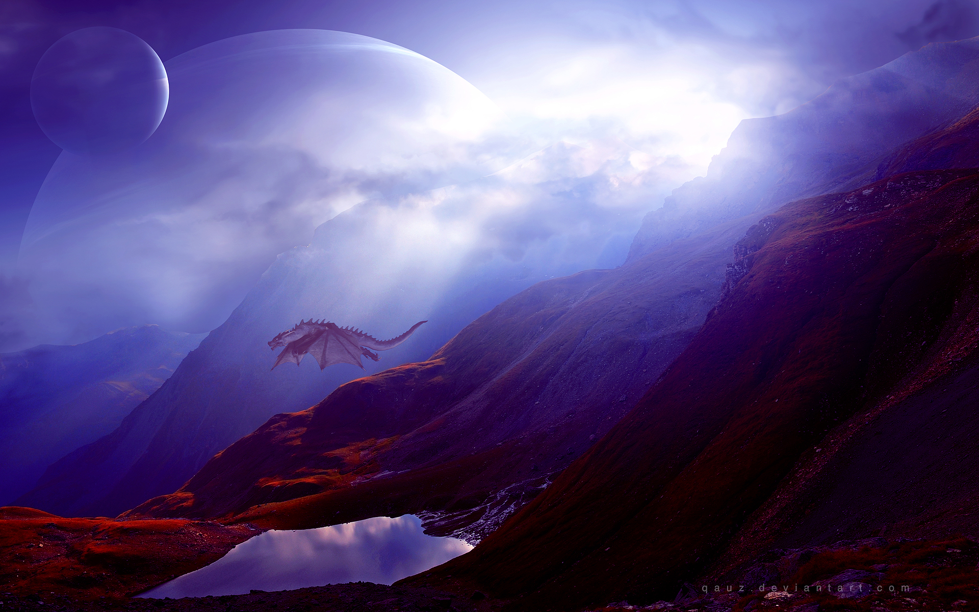 HD Wallpapers Dragon Mountains