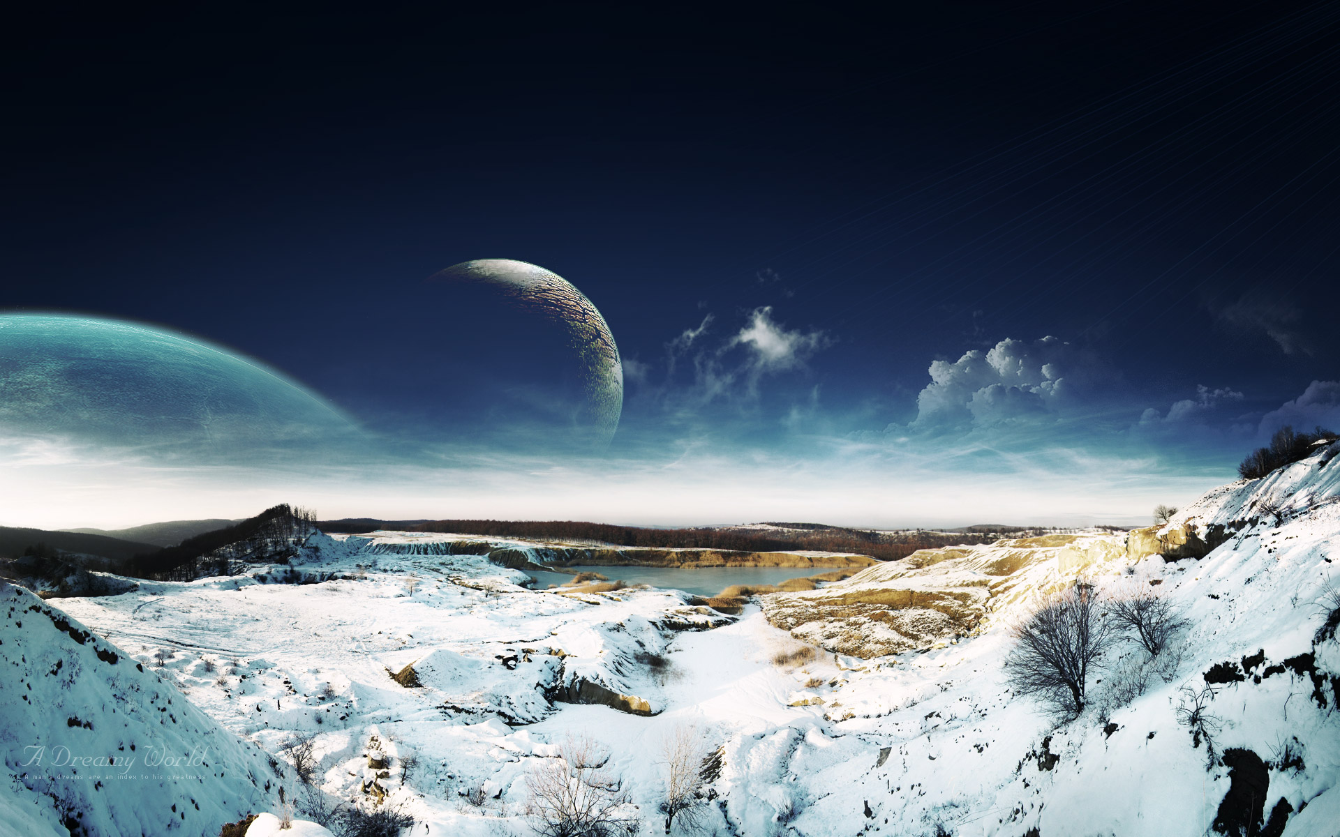 HD Wallpapers Dreamy Sky Snow Lscape