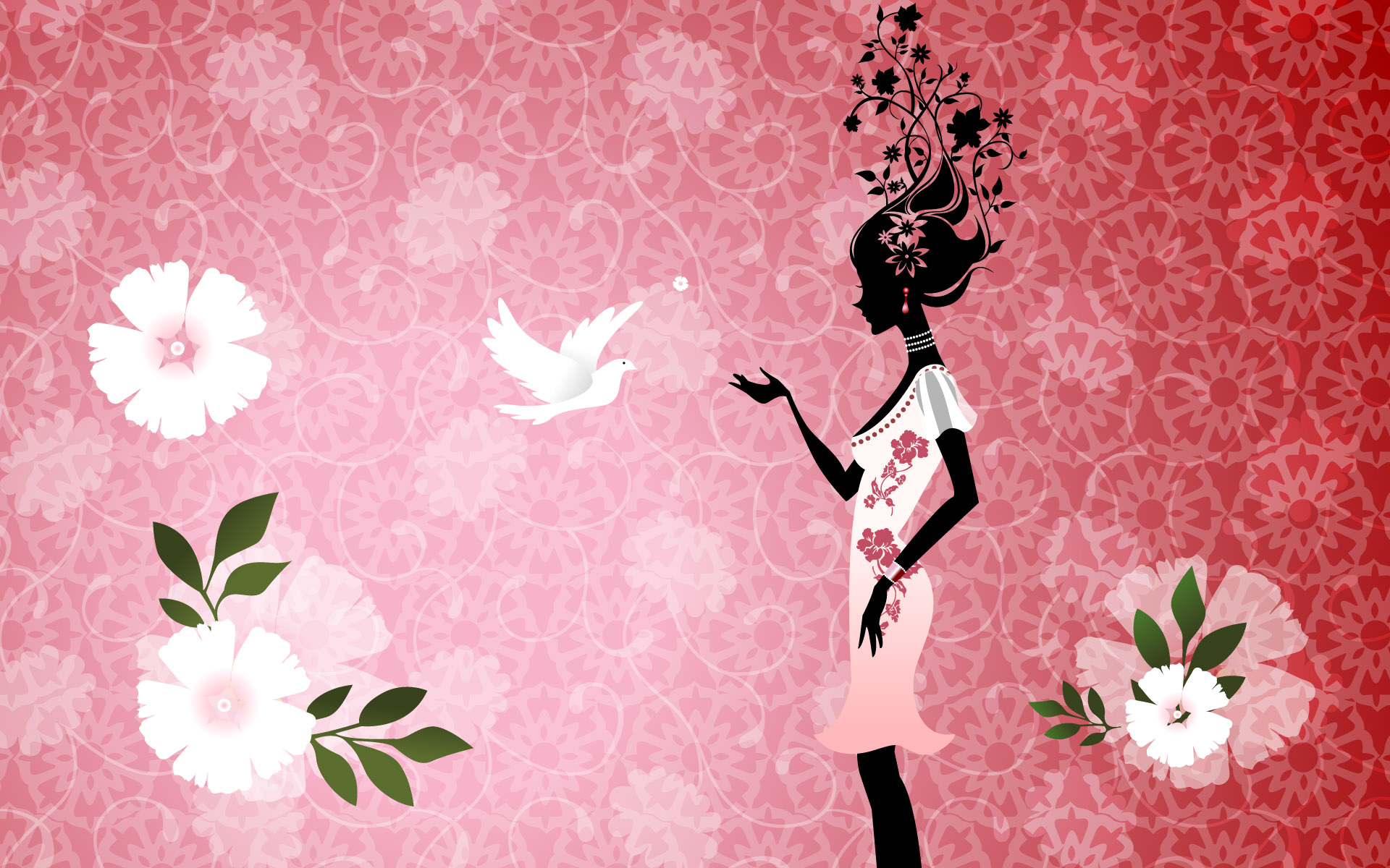HD Wallpapers Girl with Dove