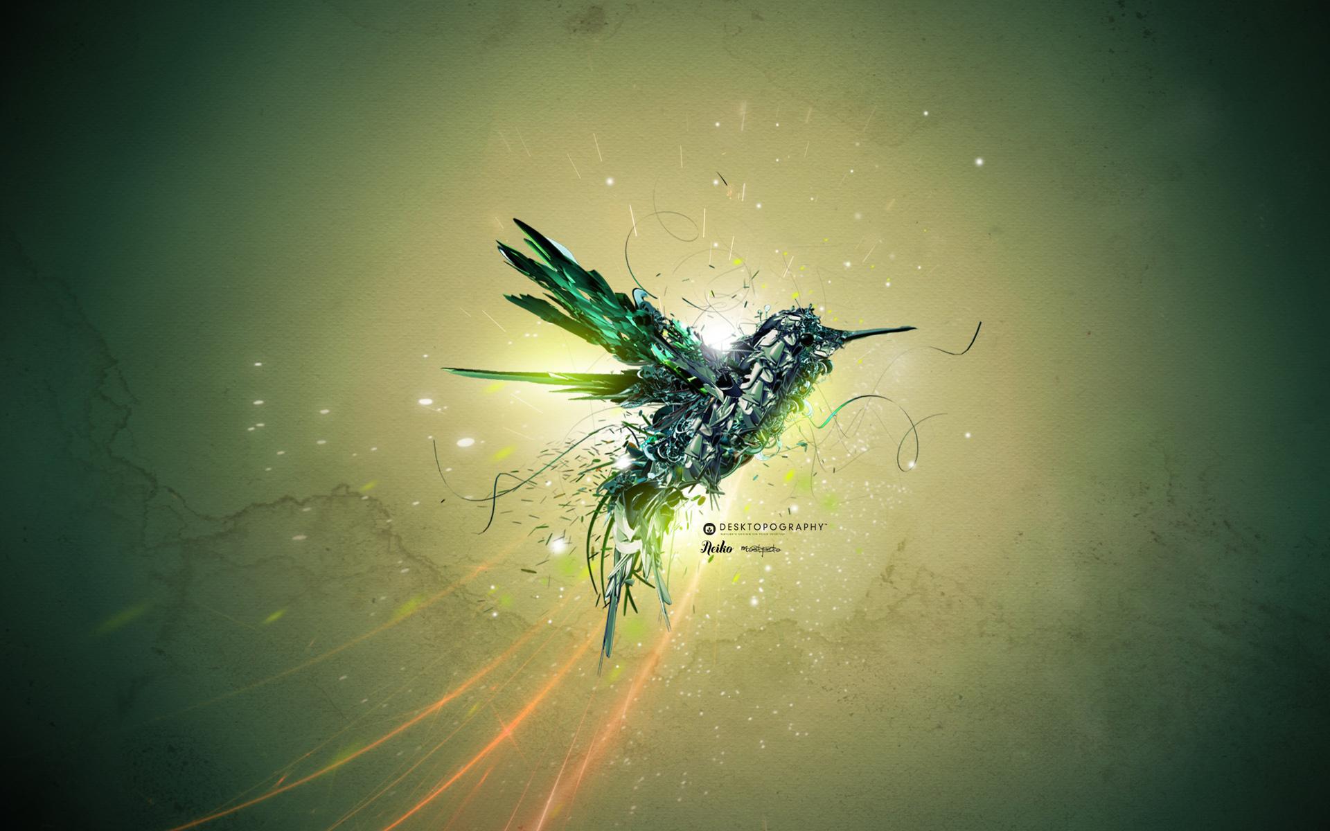 HD Wallpapers Green Bird Flight