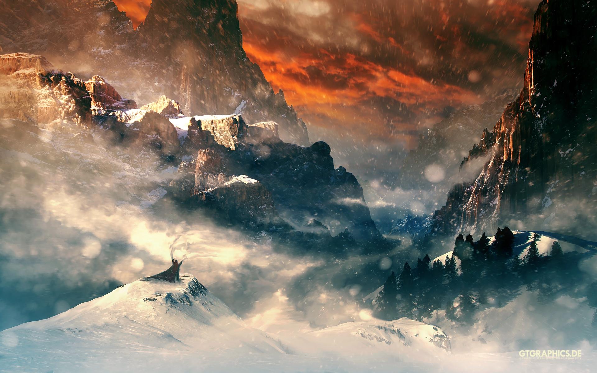 HD Wallpapers Hobbit Mountains