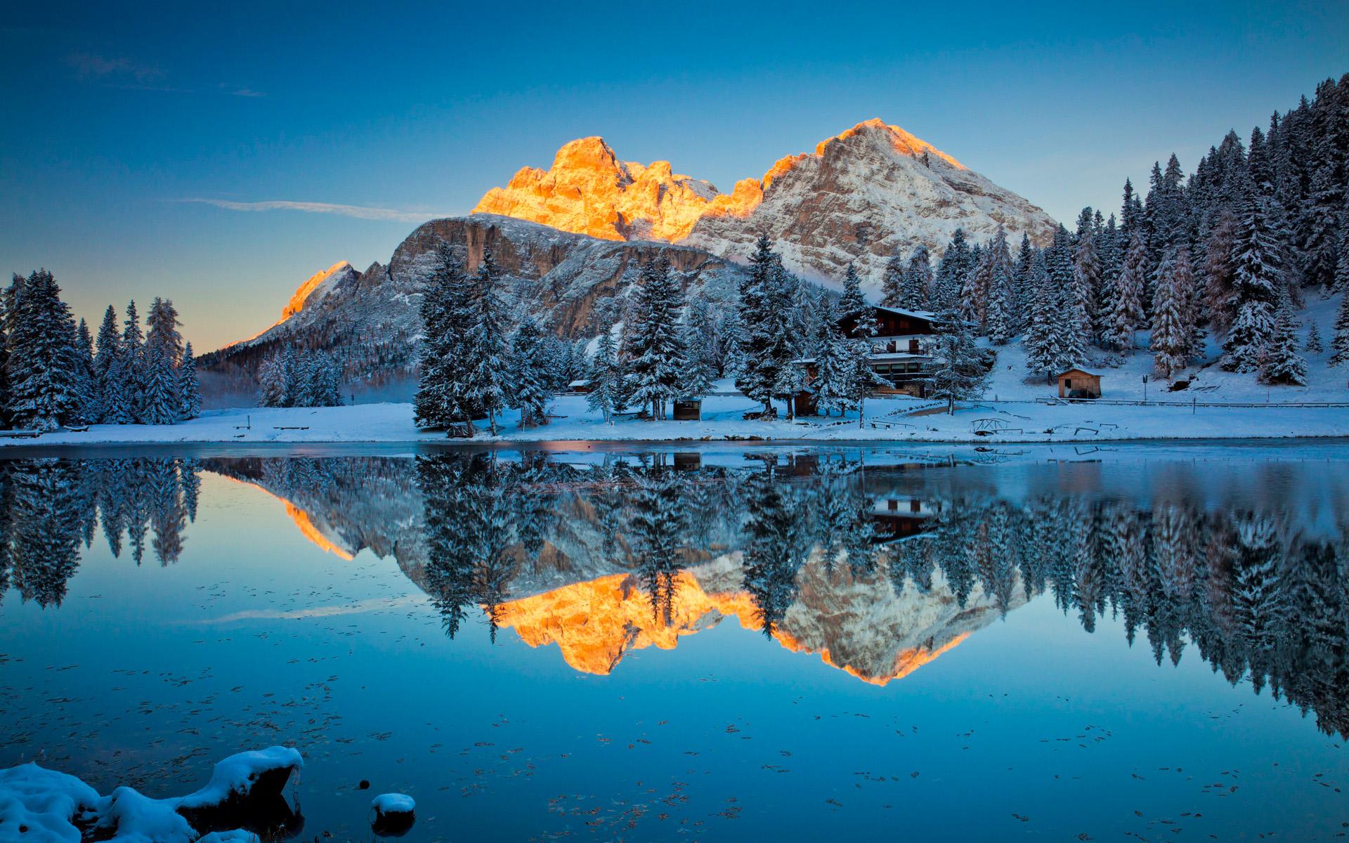 HD Wallpapers Lake Misurina Reflections