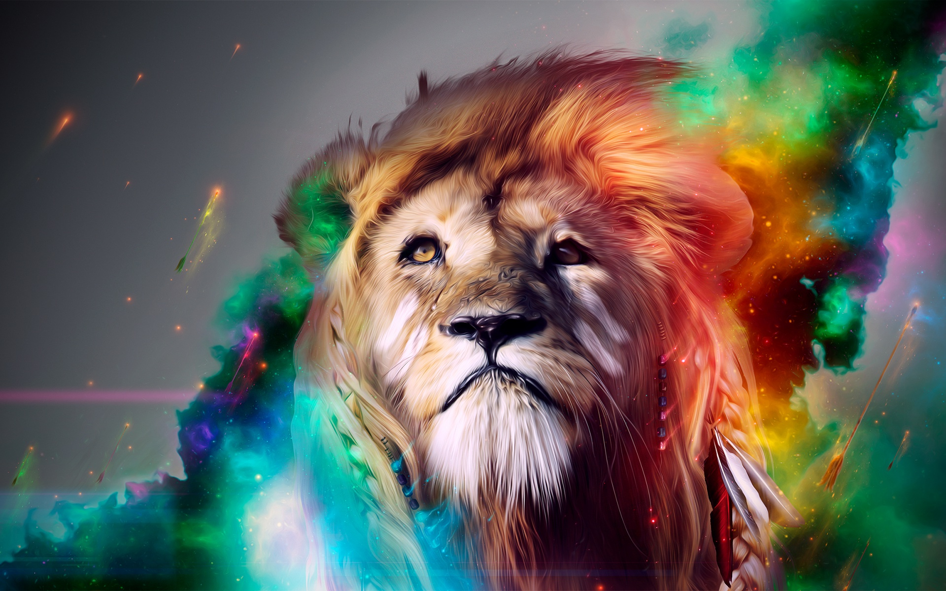 HD Wallpapers Lion Abstract