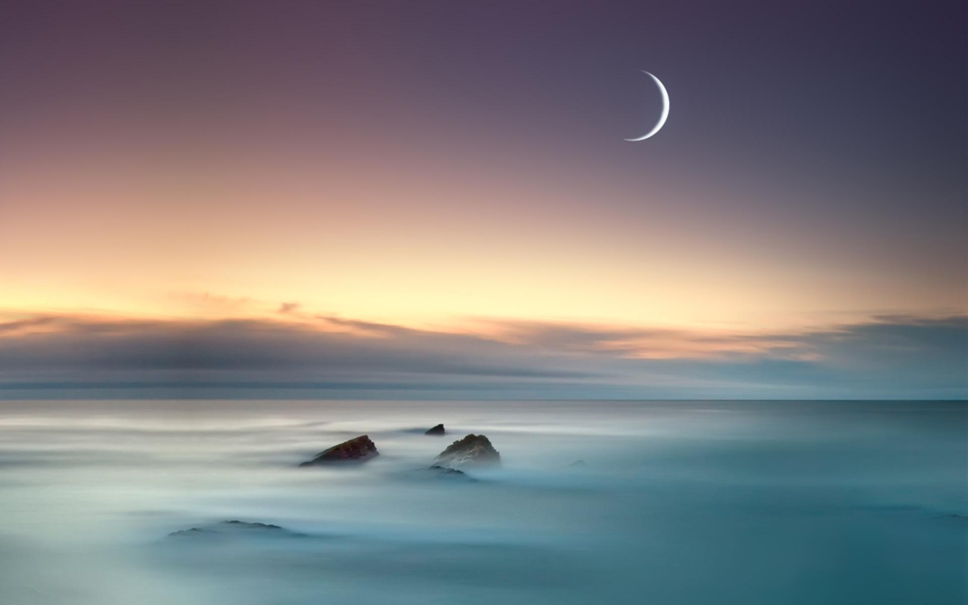 HD Wallpapers Moon Sea