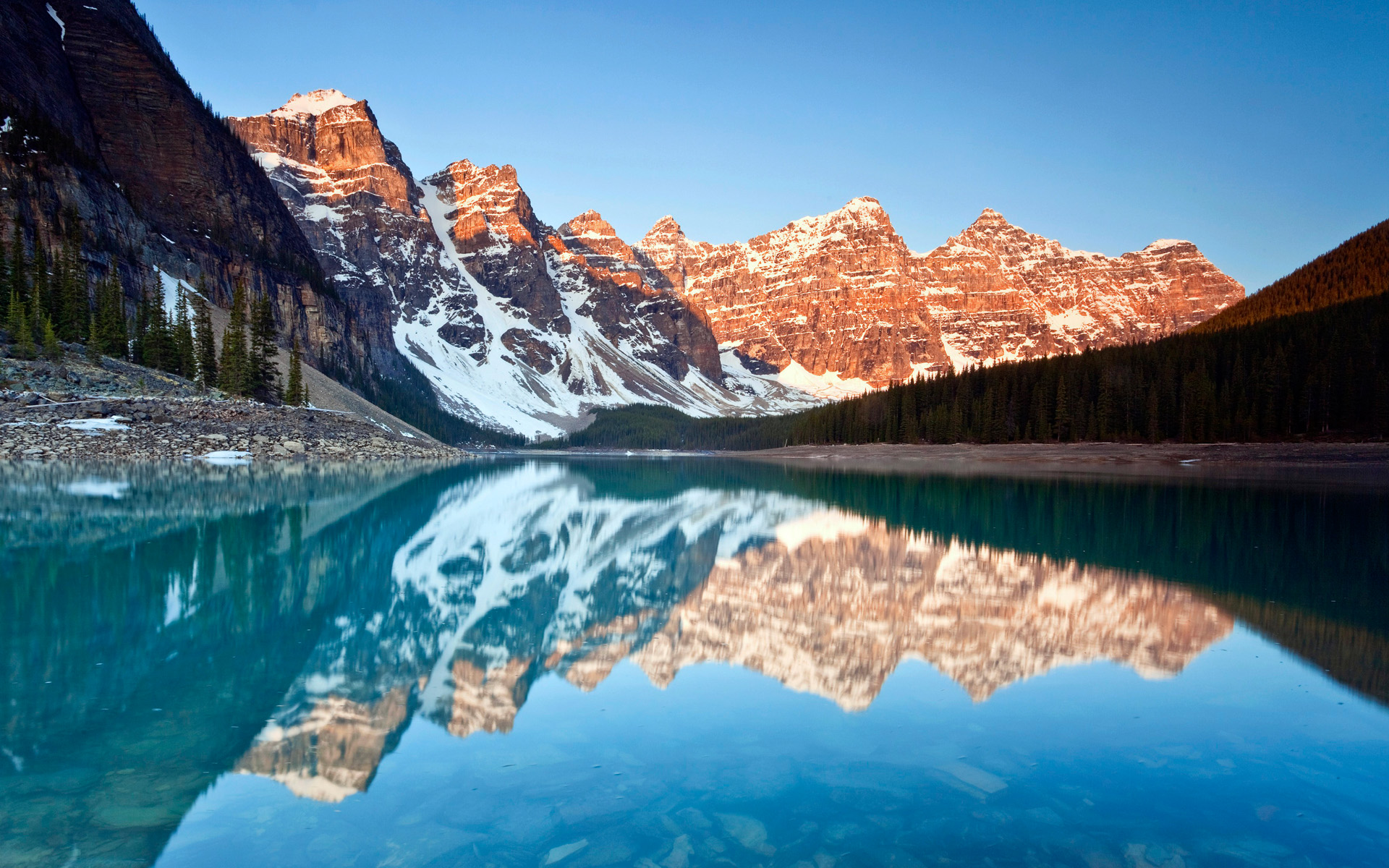 HD Wallpapers Moraine Lake Reflections
