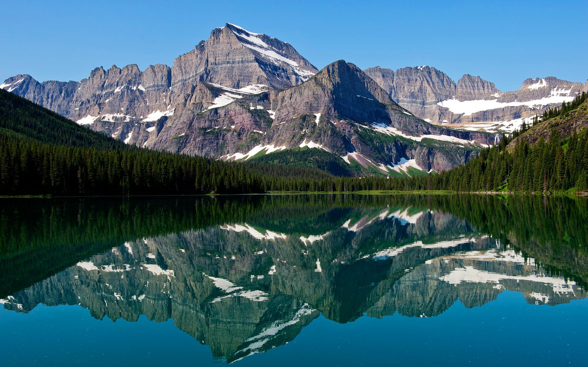 HD Wallpapers Mountain Lake Reflections