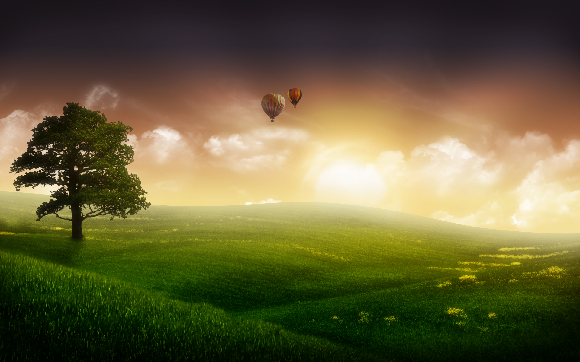 HD Wallpapers Nature Balloon Ride