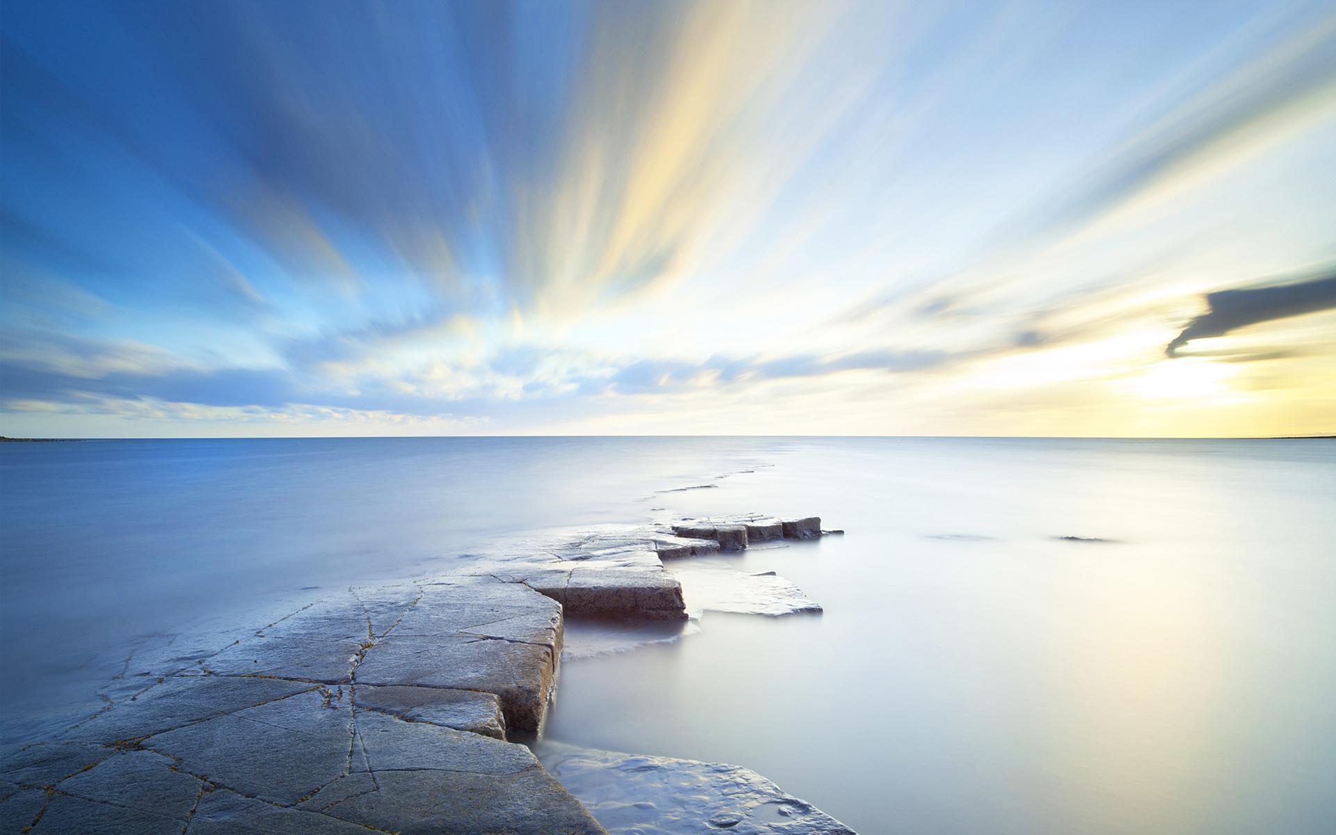 HD Wallpapers Sea Sky Horizon