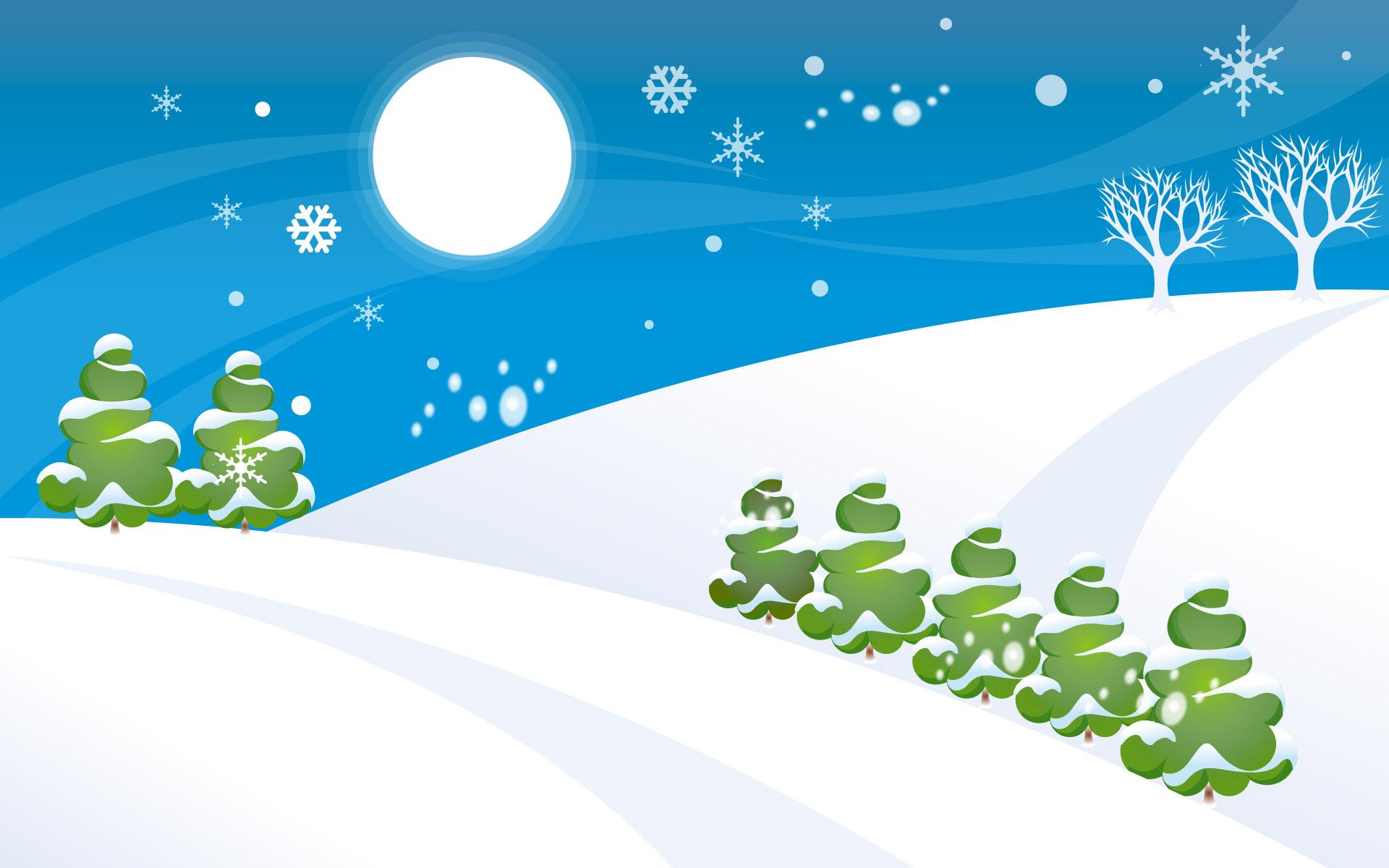 HD Wallpapers Simple Christmas Snow World