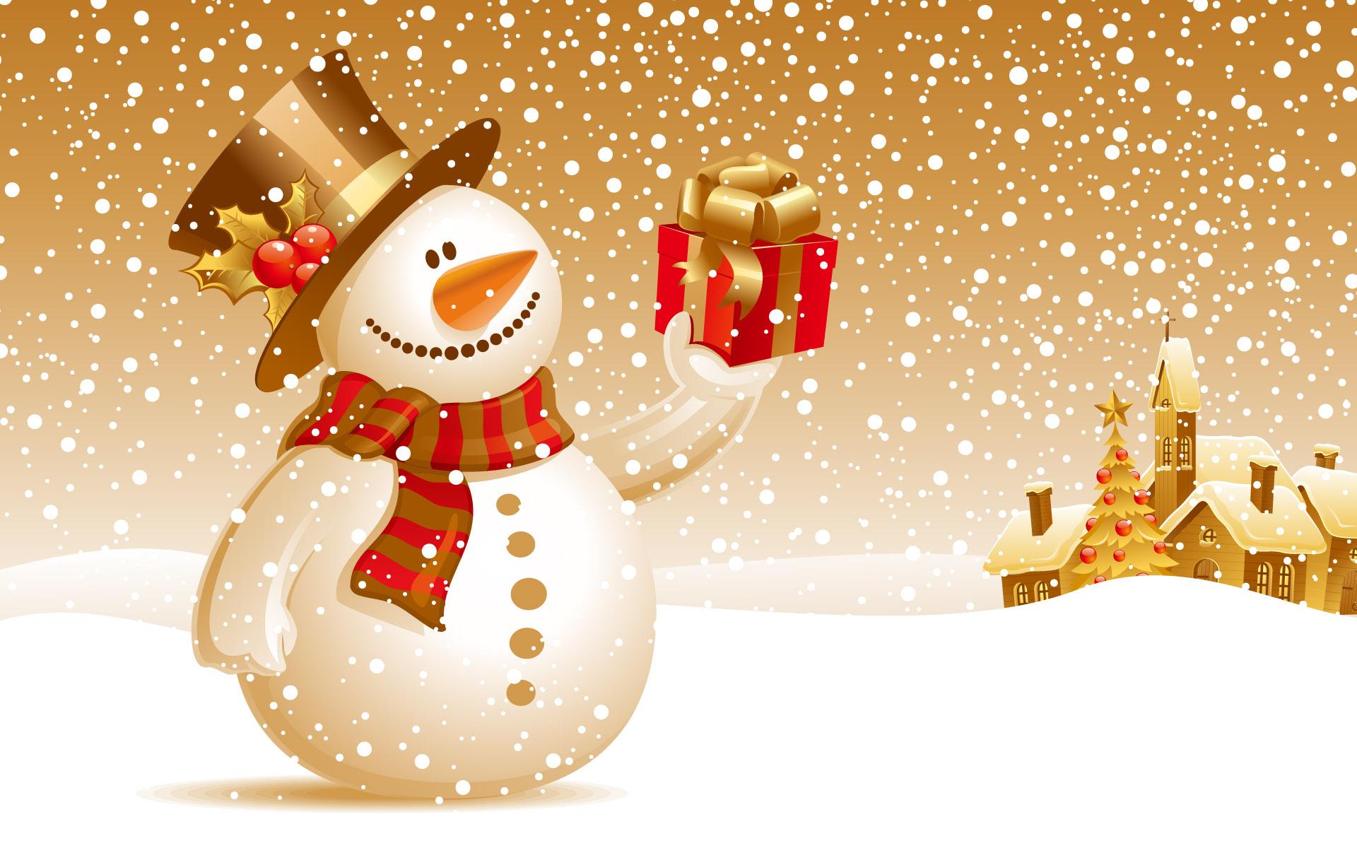 HD Wallpapers Snowman Christmas Gift