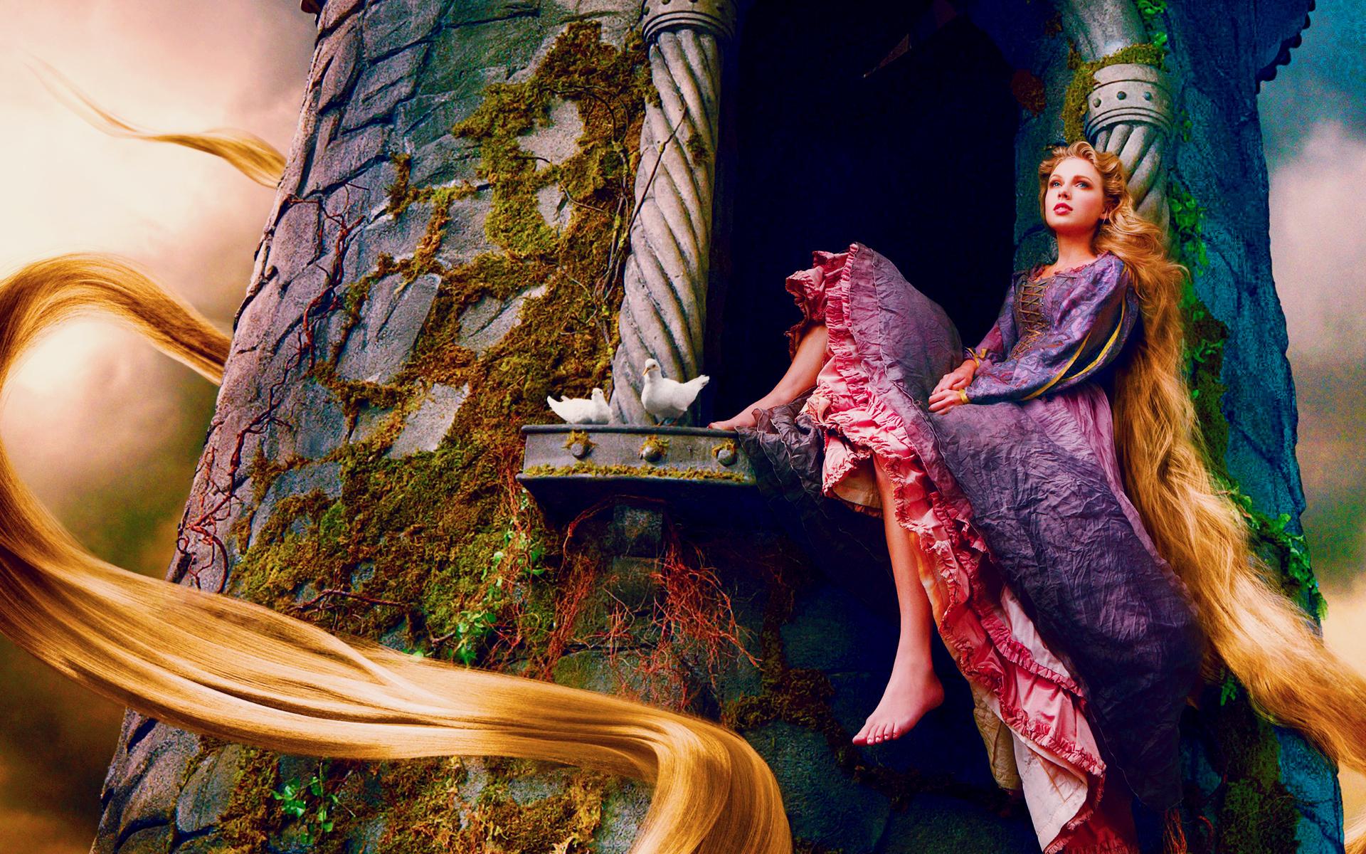 HD Wallpapers Taylor Swift as Rapunzel