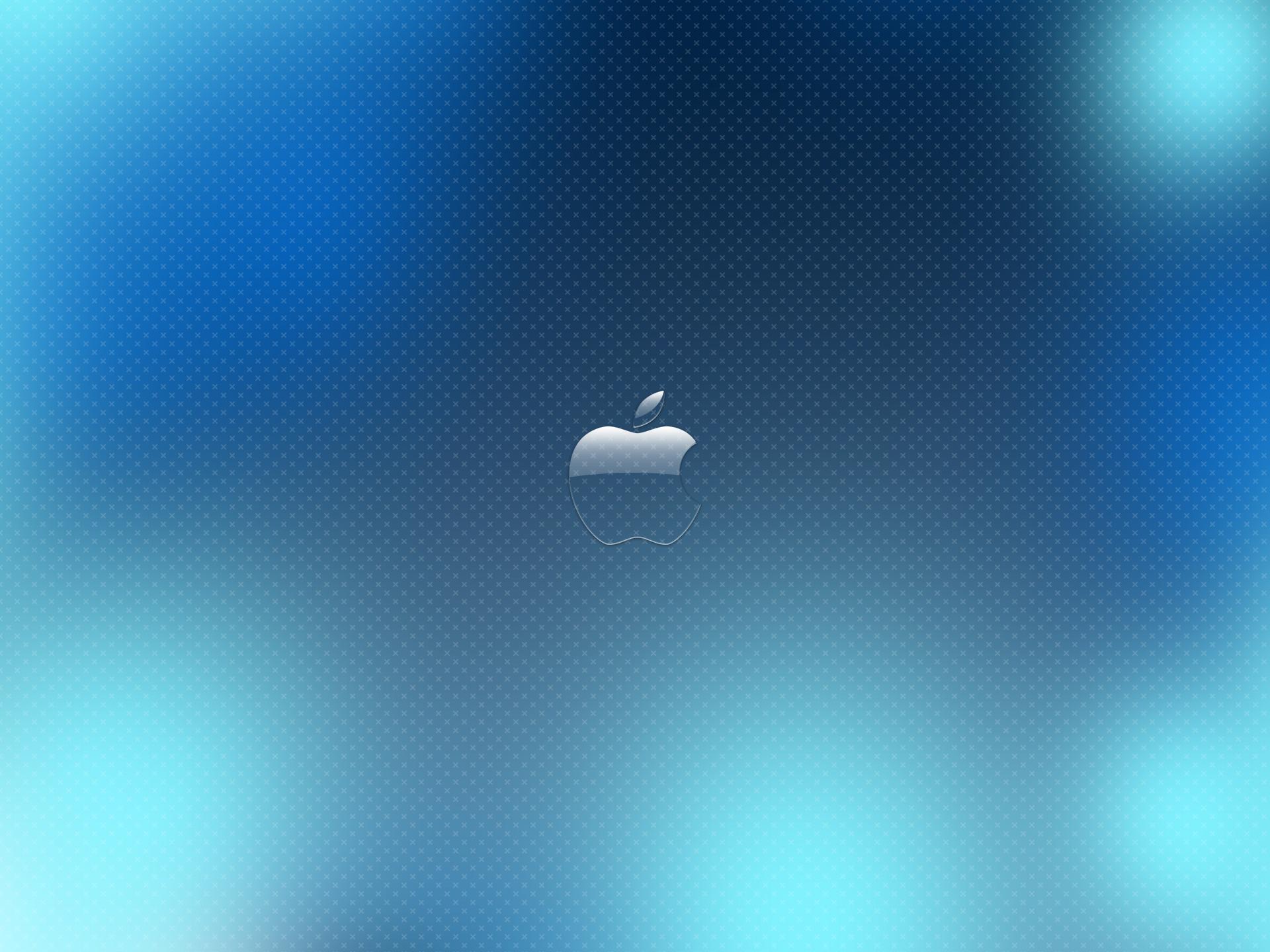 HD Wallpapers Blue Glass Apple