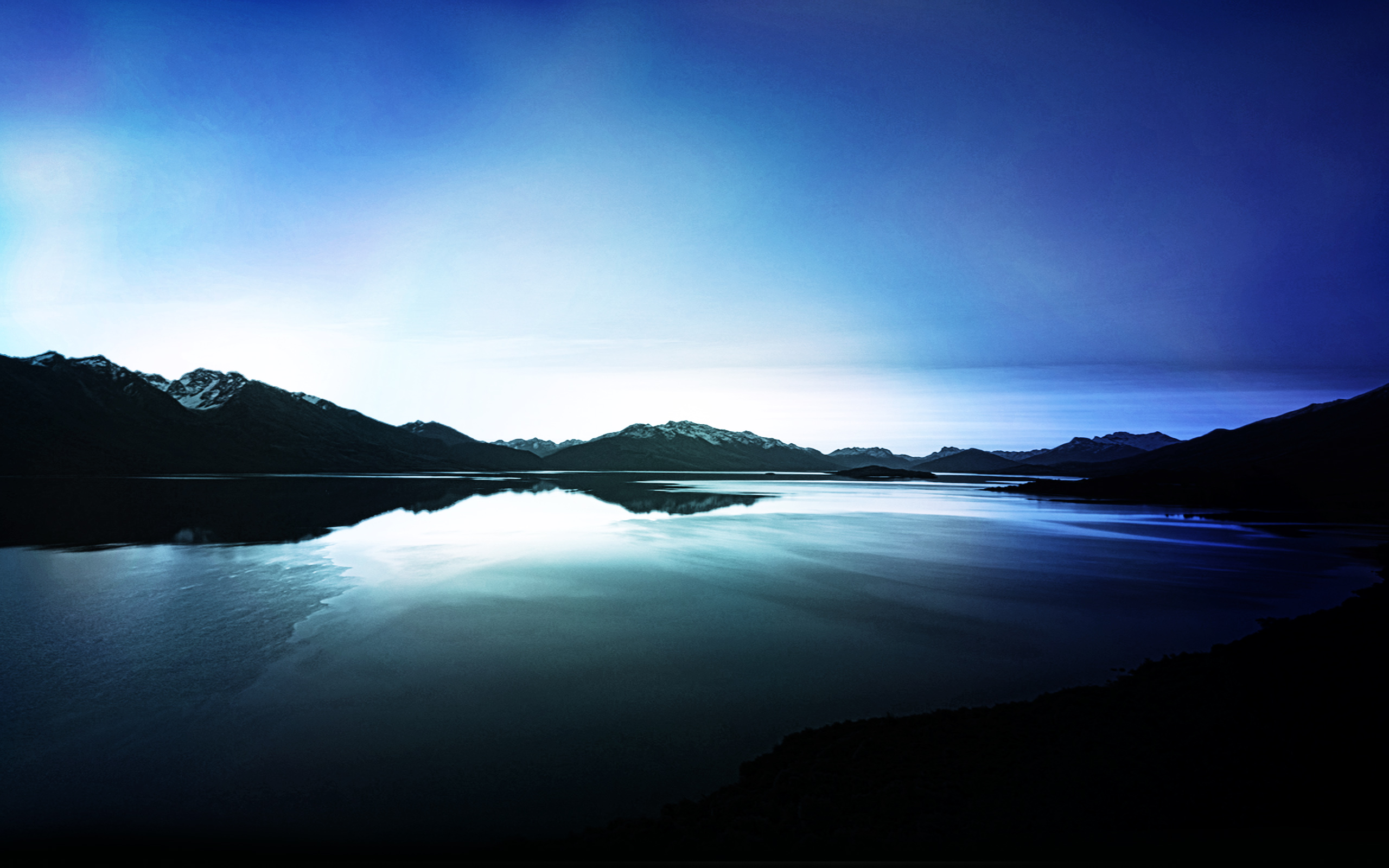 HD Wallpapers Dark Lake View Reflections
