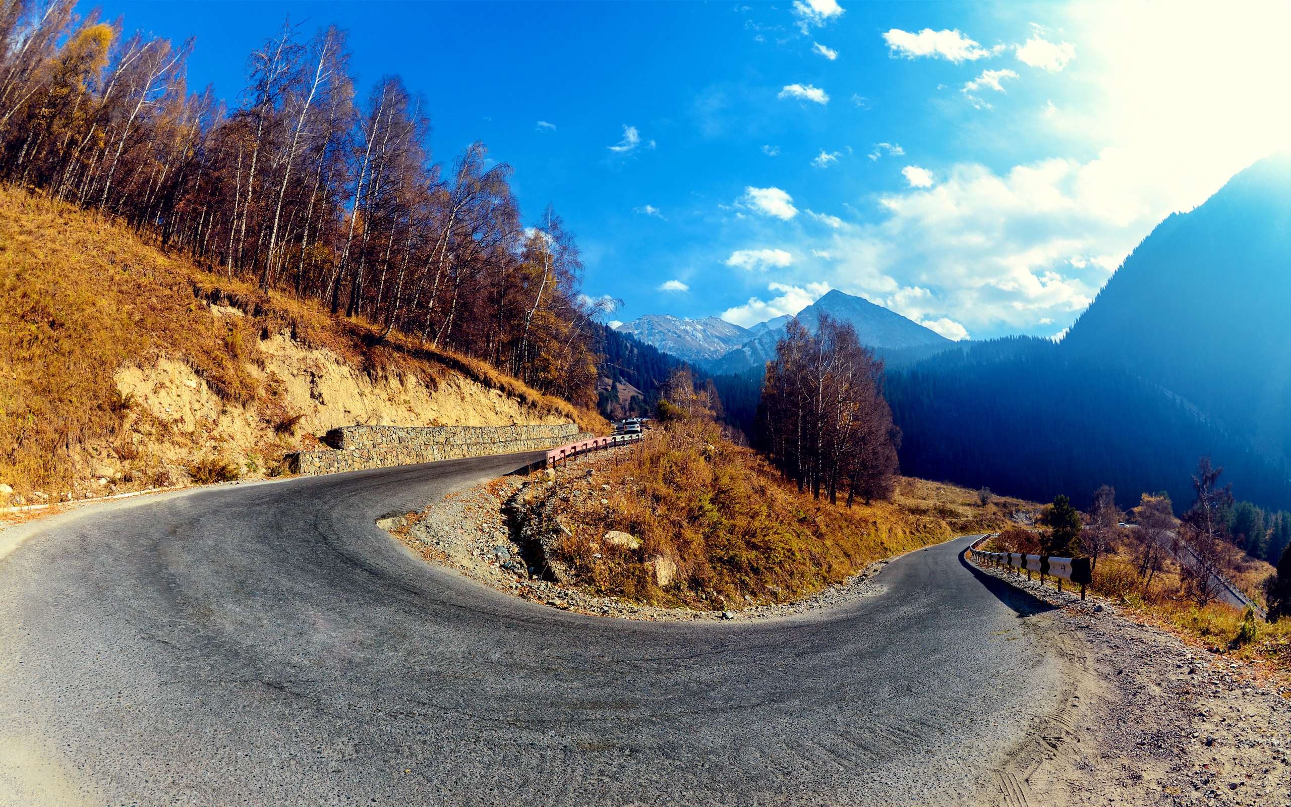 HD Wallpapers Mountain Hairpin Curve