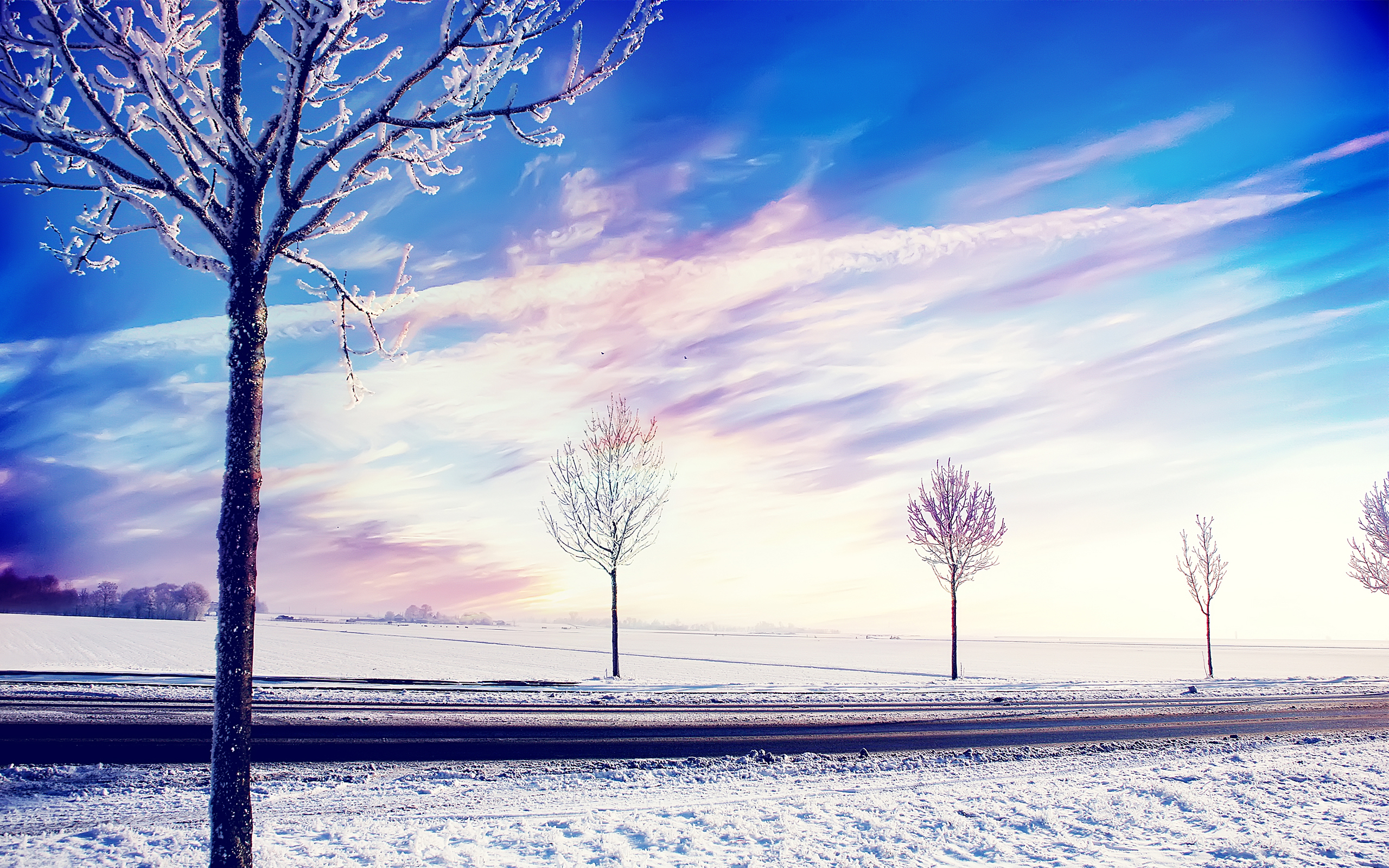 HD Wallpapers Snow Winter Trees