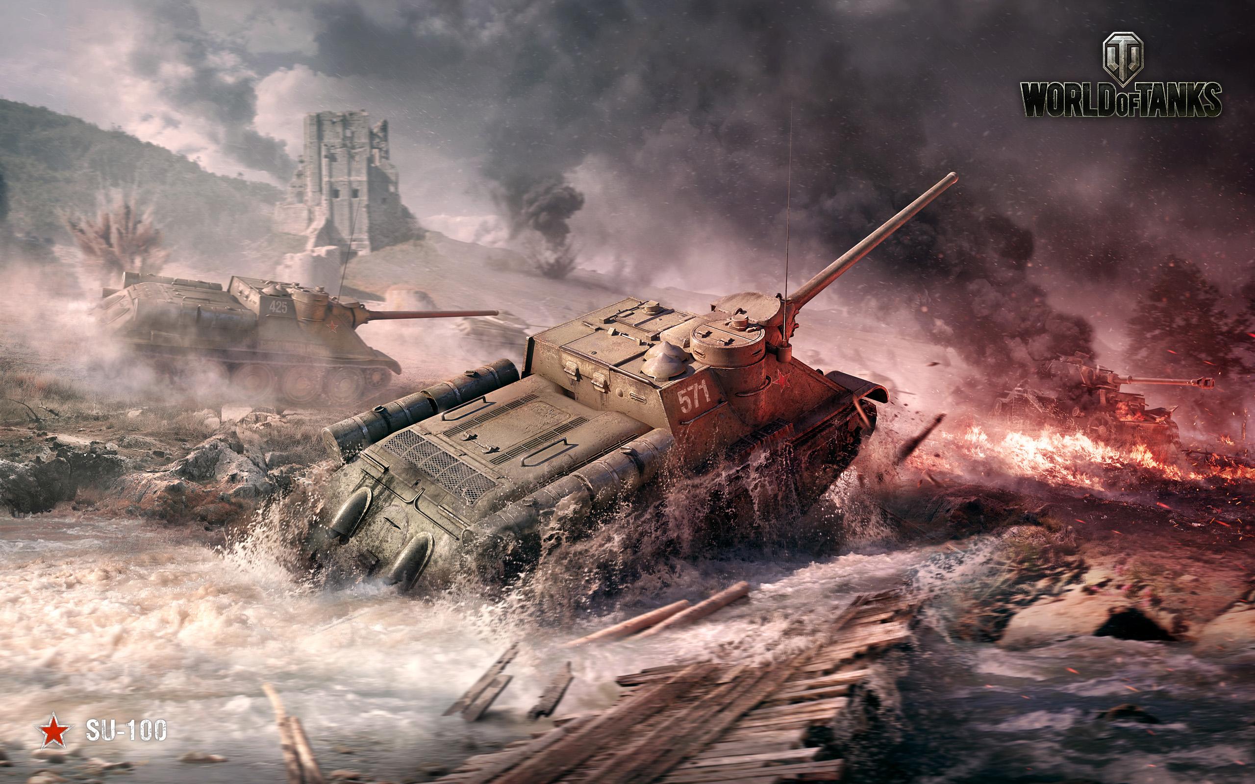 HD Wallpapers SU 100 World of Tanks