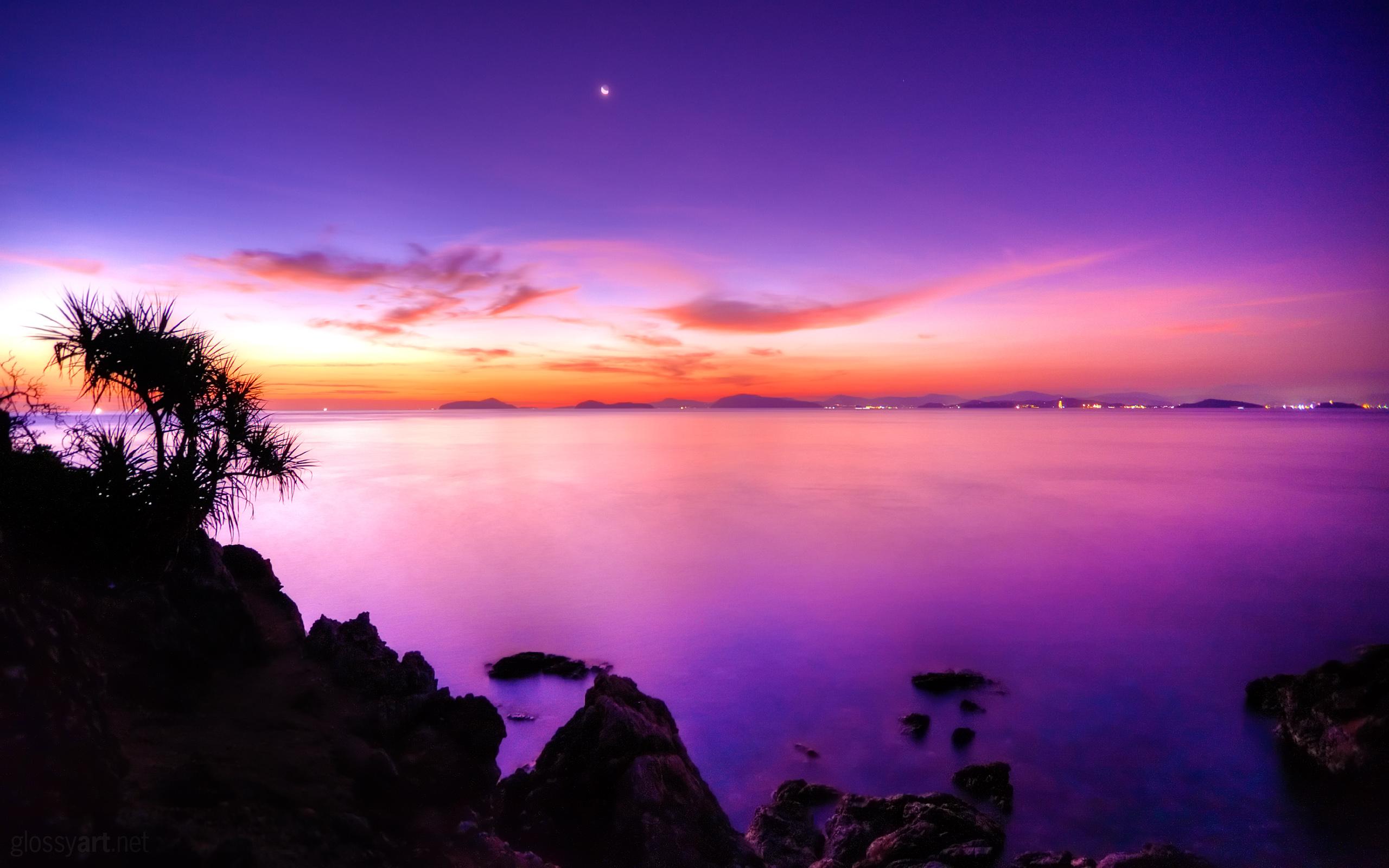 HD Wallpapers Sunset Moonrise
