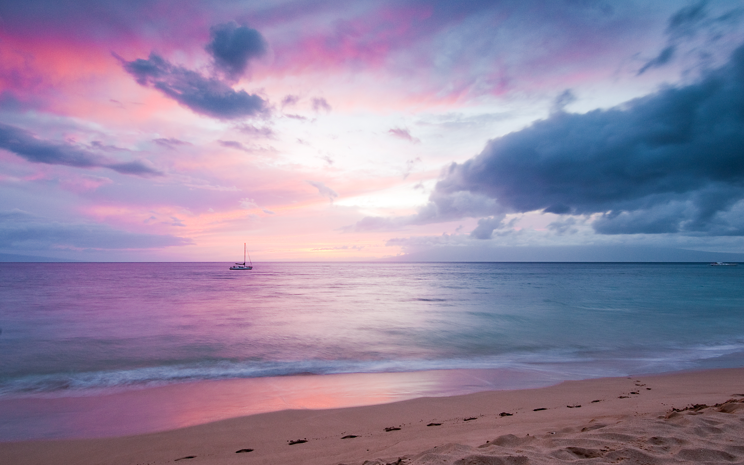 HD Wallpapers Twilight Isl Beach Sunset