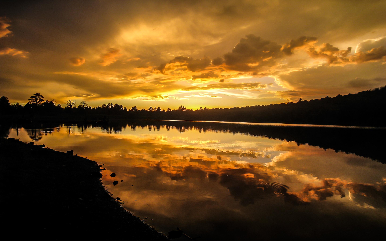 HD Wallpapers Kaibab Lake Sunset