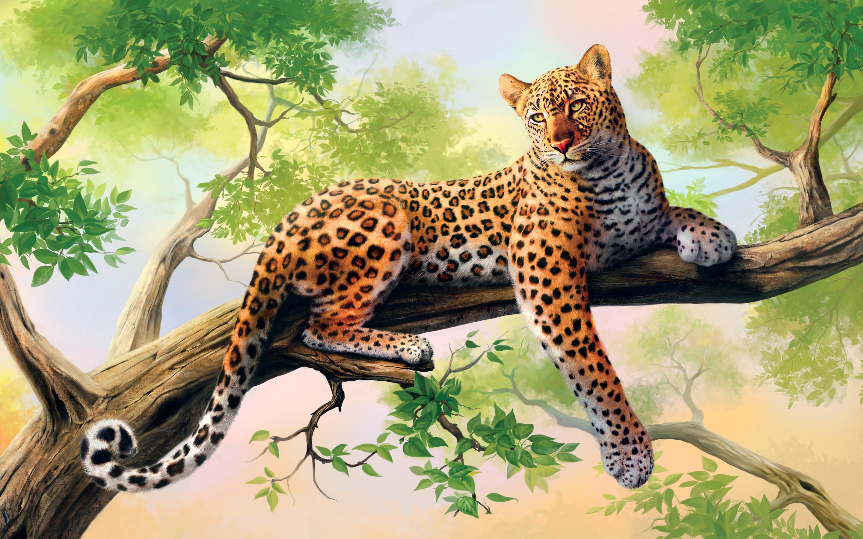 HD Wallpapers Leopard Art