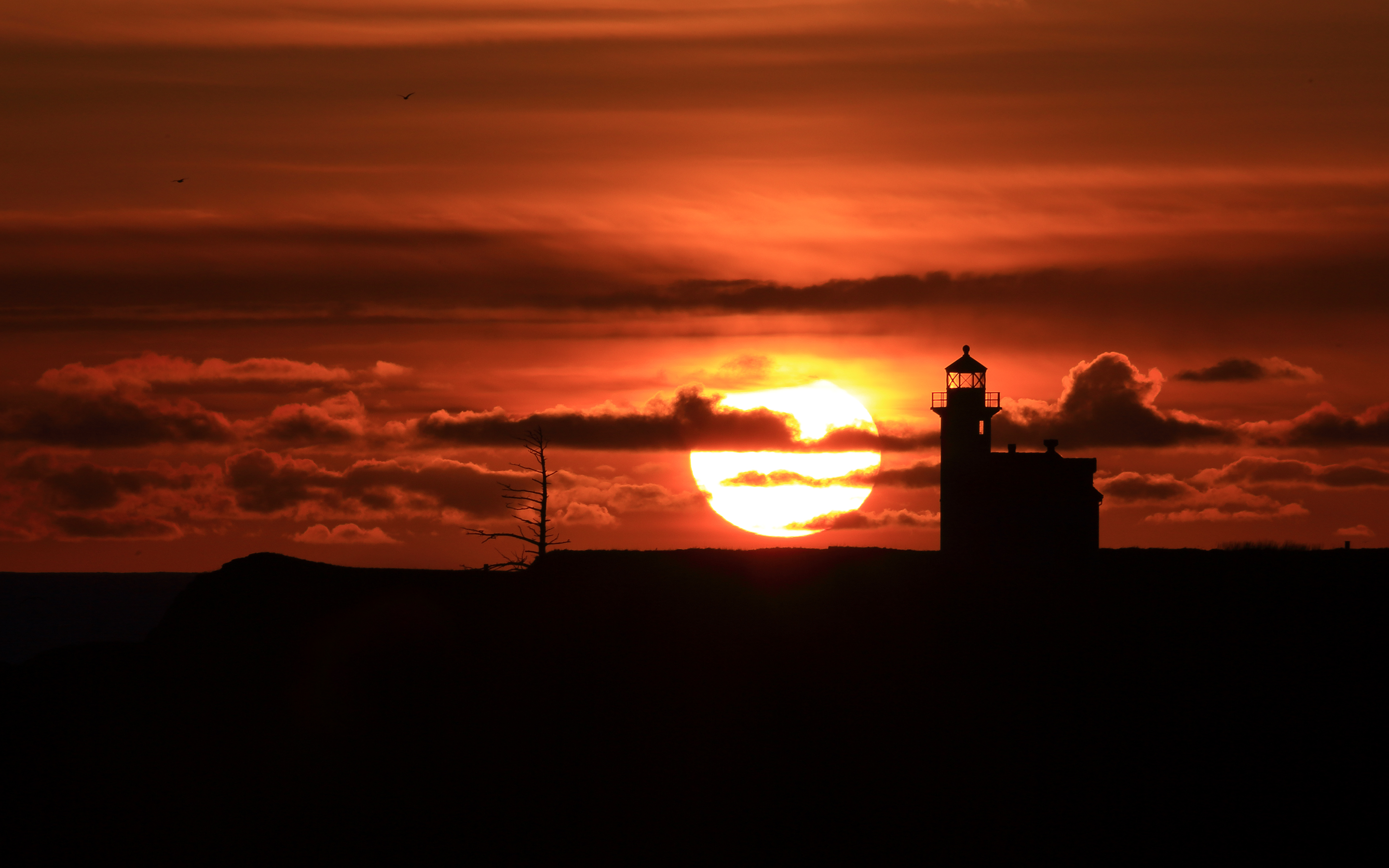 HD Wallpapers Lighthouse Sunset