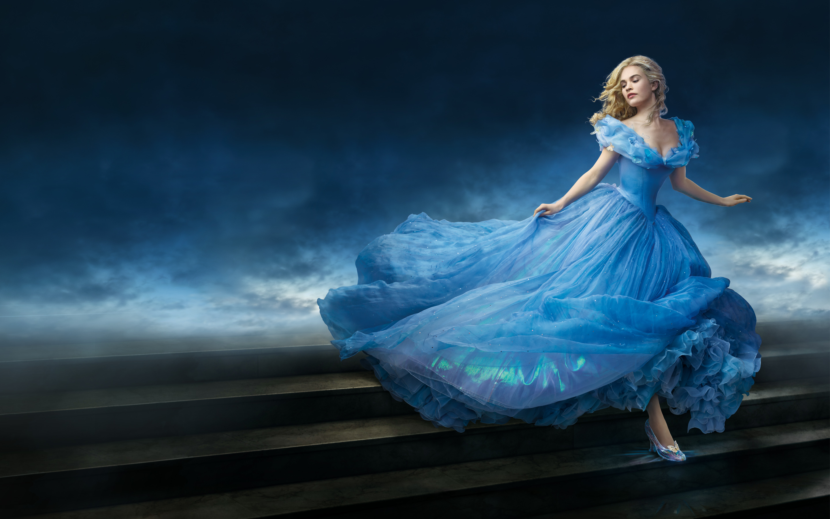 HD Wallpapers Lily James as Cinderella