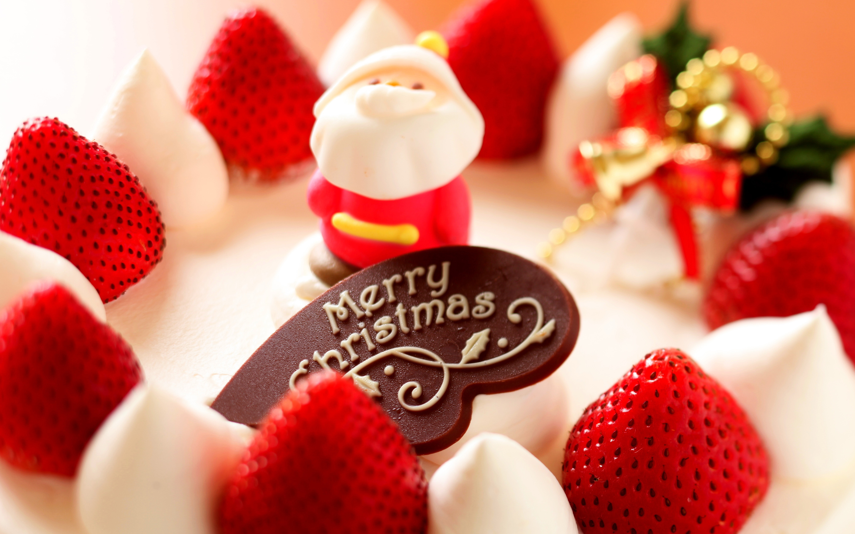 HD Wallpapers Merry Christmas Strawberry Dessert