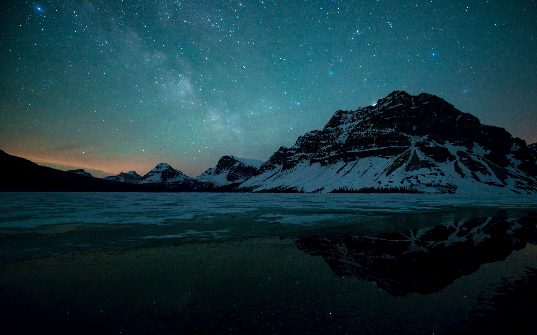 HD Wallpapers Milky Way Lake