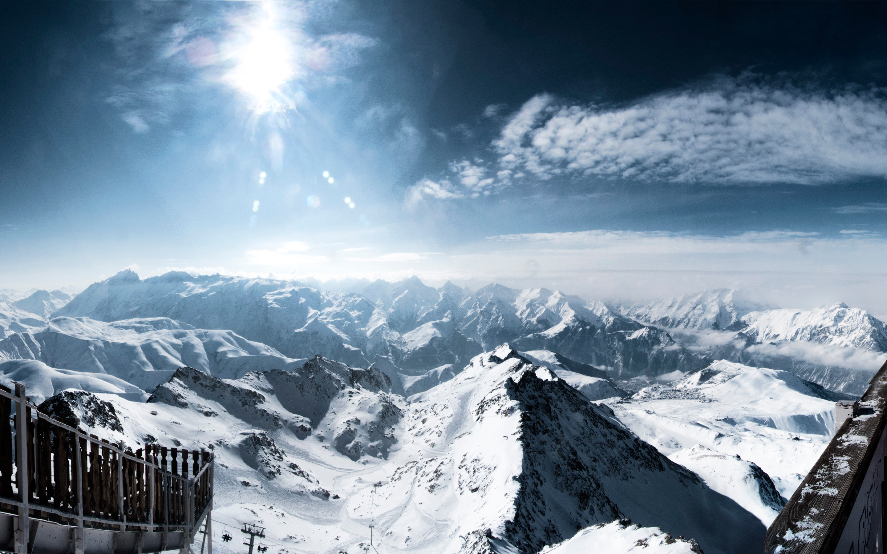 HD Wallpapers Snowy Alps